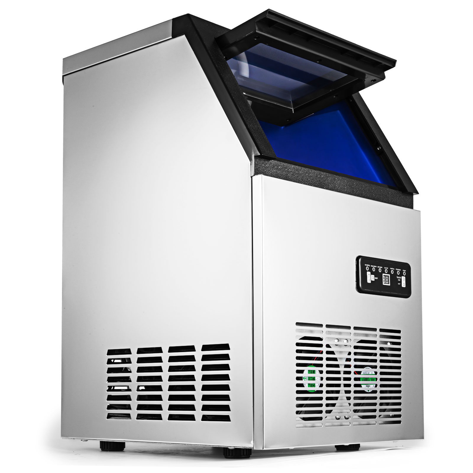 40~200 KG//24H Commercial Ice Cubes Machine 110V Bakeries Ice Spoon Refrigeration