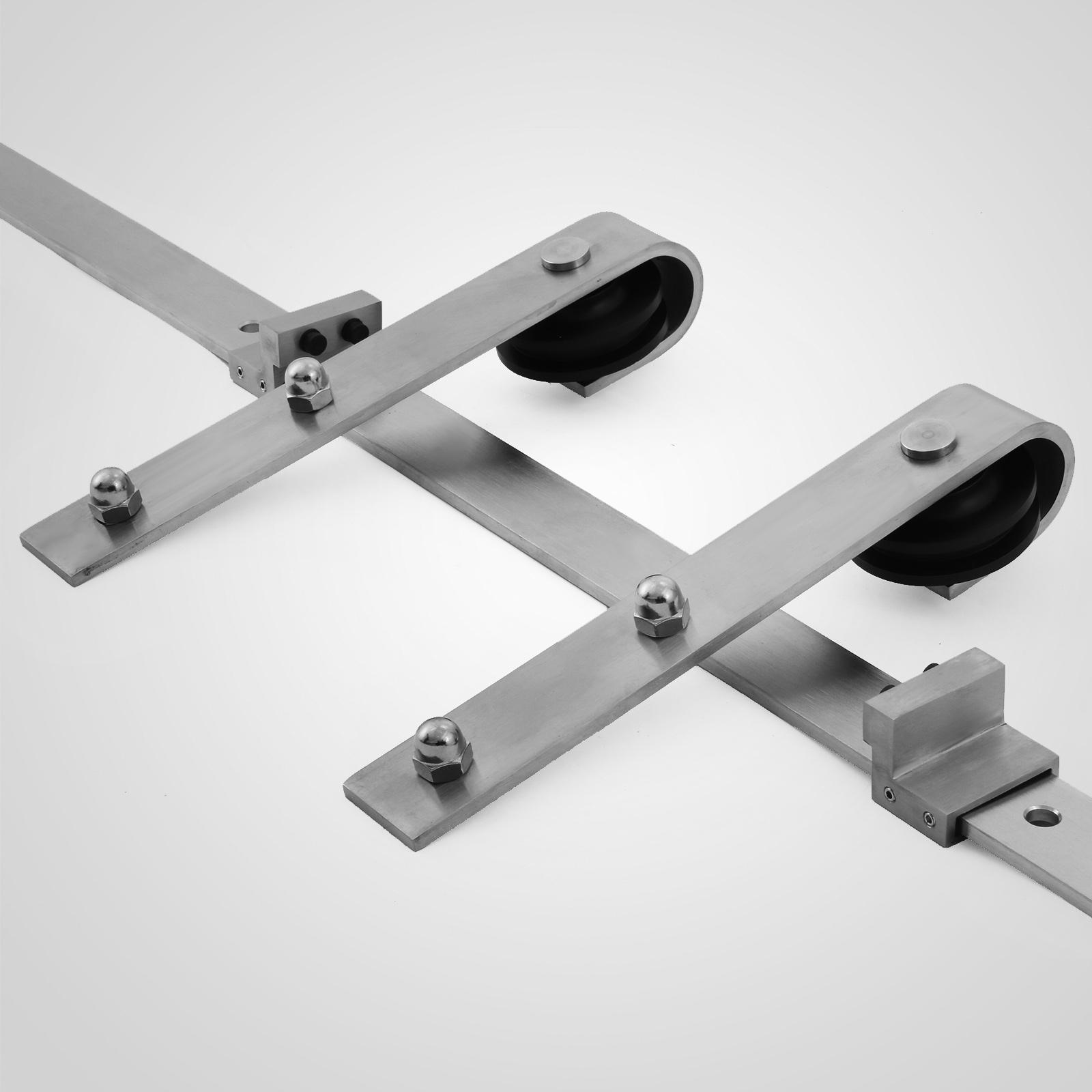 Sliding Track Door Hardware: 6FT Sliding Barn Door Track Hardware Roller Stainless