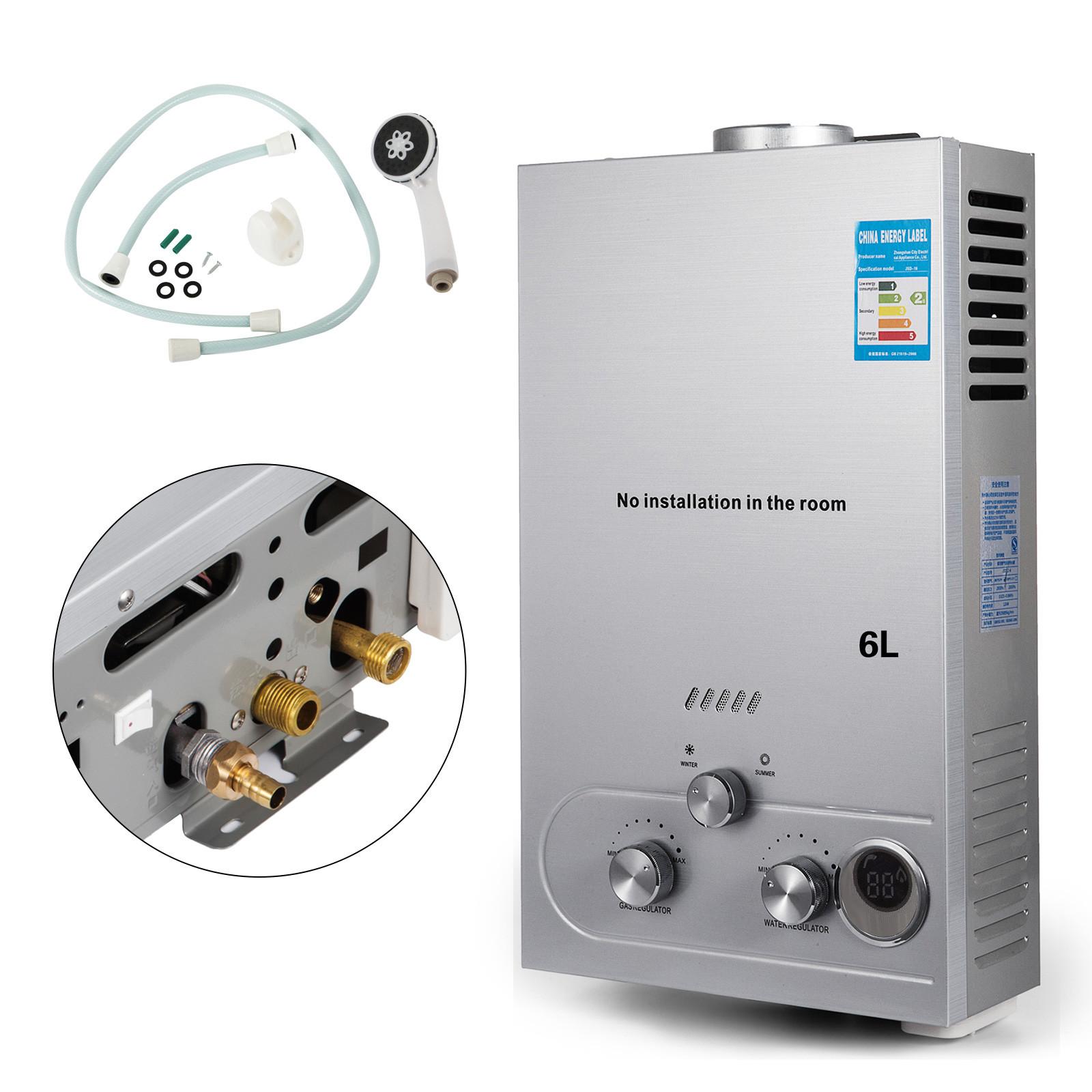 6L//8L//10L//12L//16L//18L Instant Tankless Hot Water Heater LPG Propane Gas Bolier