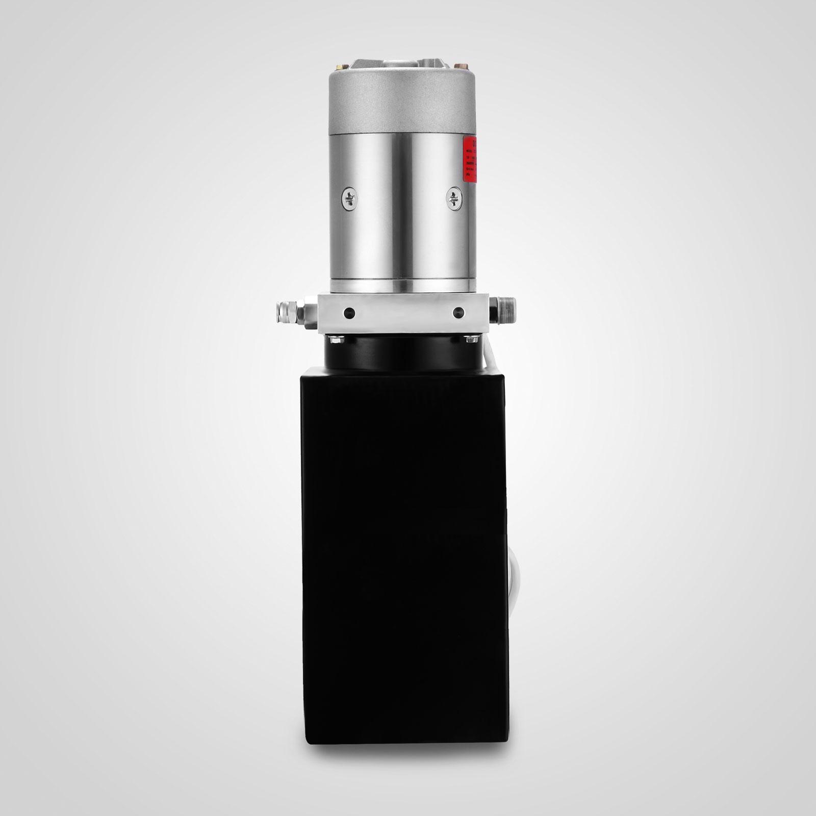 6 Quart Single Acting Hydraulic Pump Dump Trailer Remote Lifting Reservoir New Hydraulic Pump