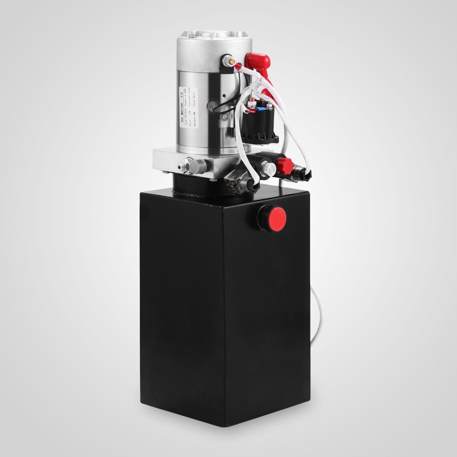 Double Acting Hydraulic Pump 12v Dump Trailer 6 Quart