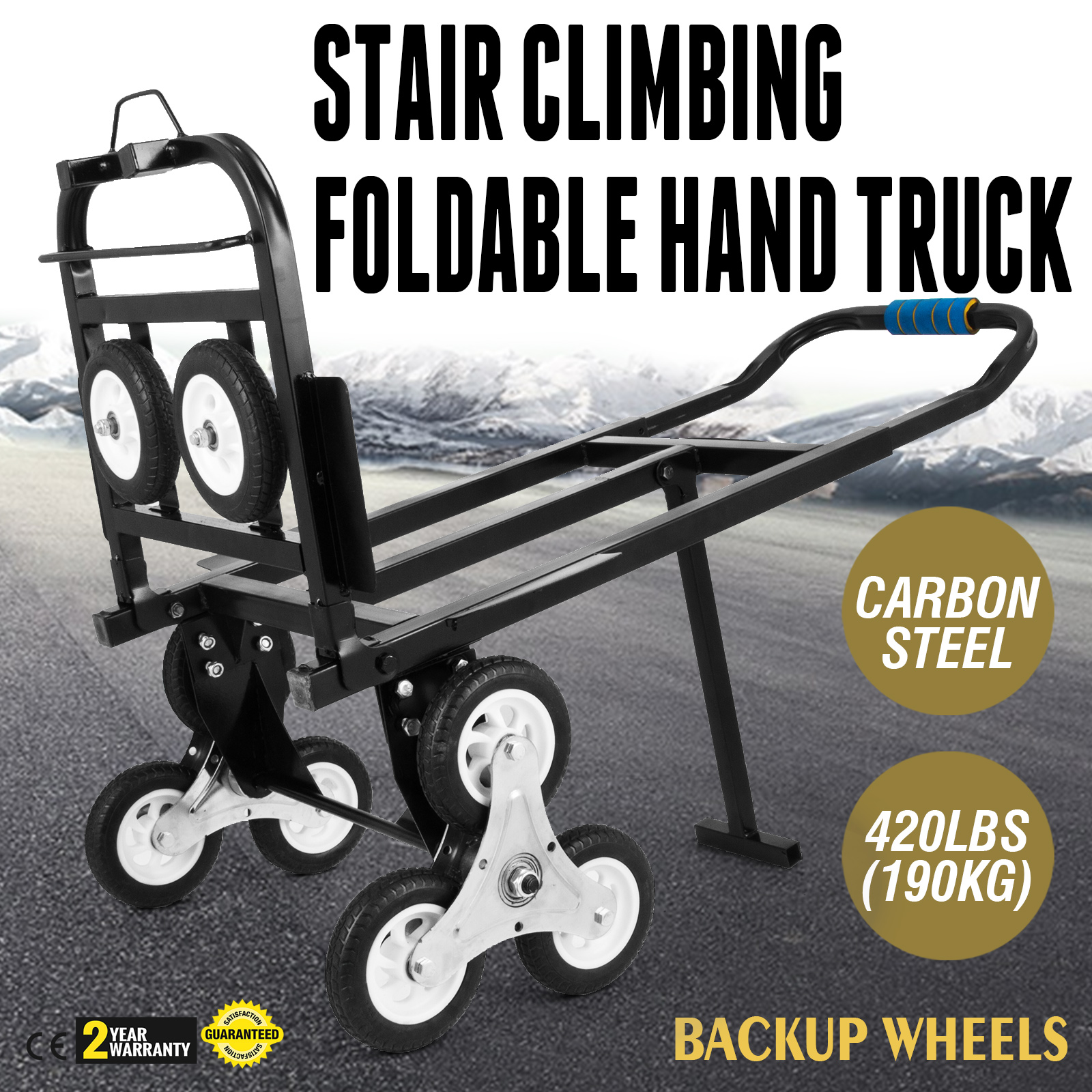Stair Climbing Trolley Stair Climber Cart  Hand Truck Dolly Climber