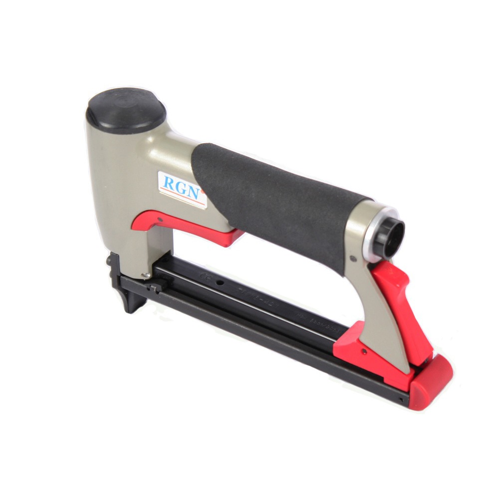 AIR STAPLE GUN UPHOLSTERY SEQUENTIAL FIRE TRIGGER PNEUMATIC STAPLER ...