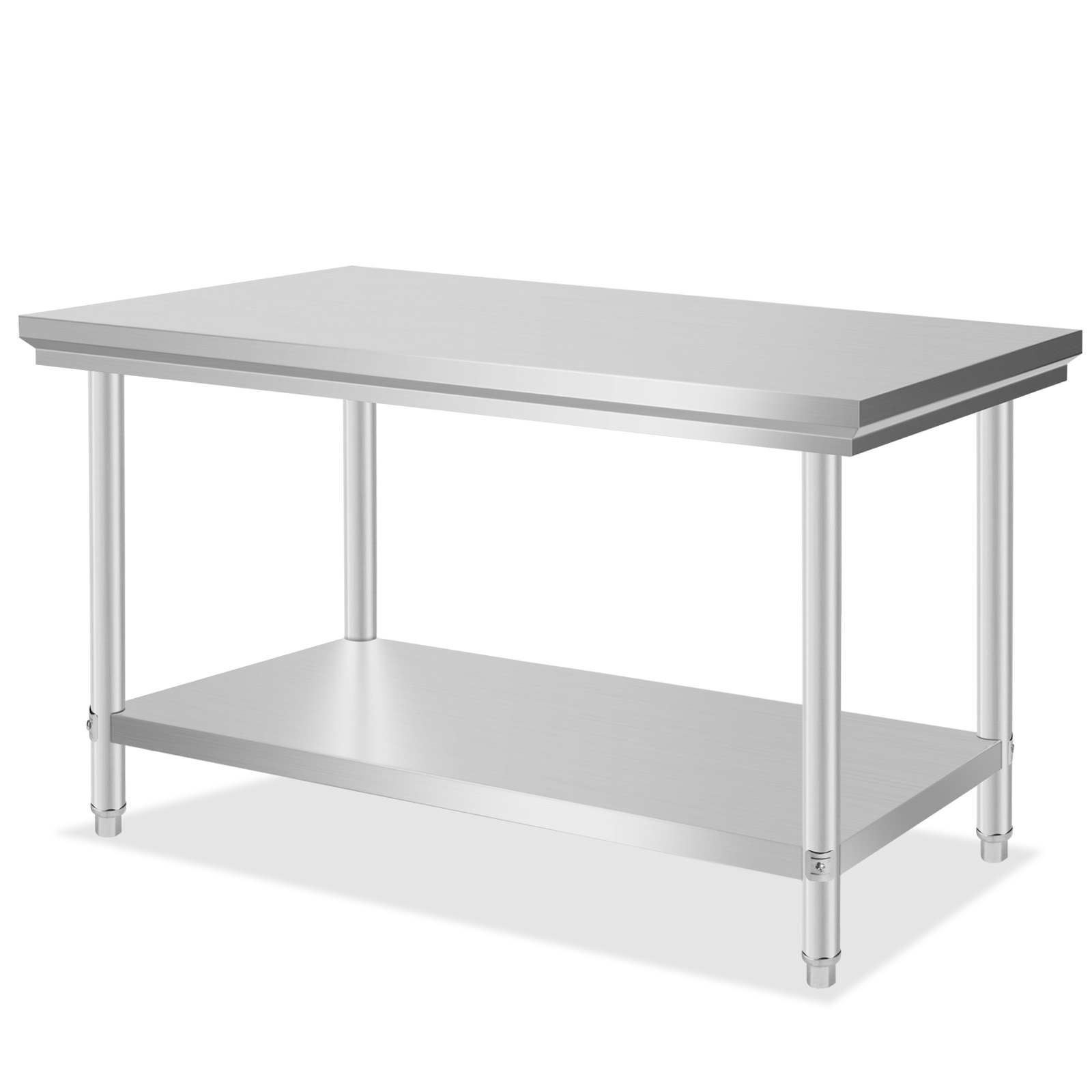 Stainless steel commercial kitchen work prep table 30 x 48 heavy duty nsf new ebay - Industrial kitchen table stainless steel ...