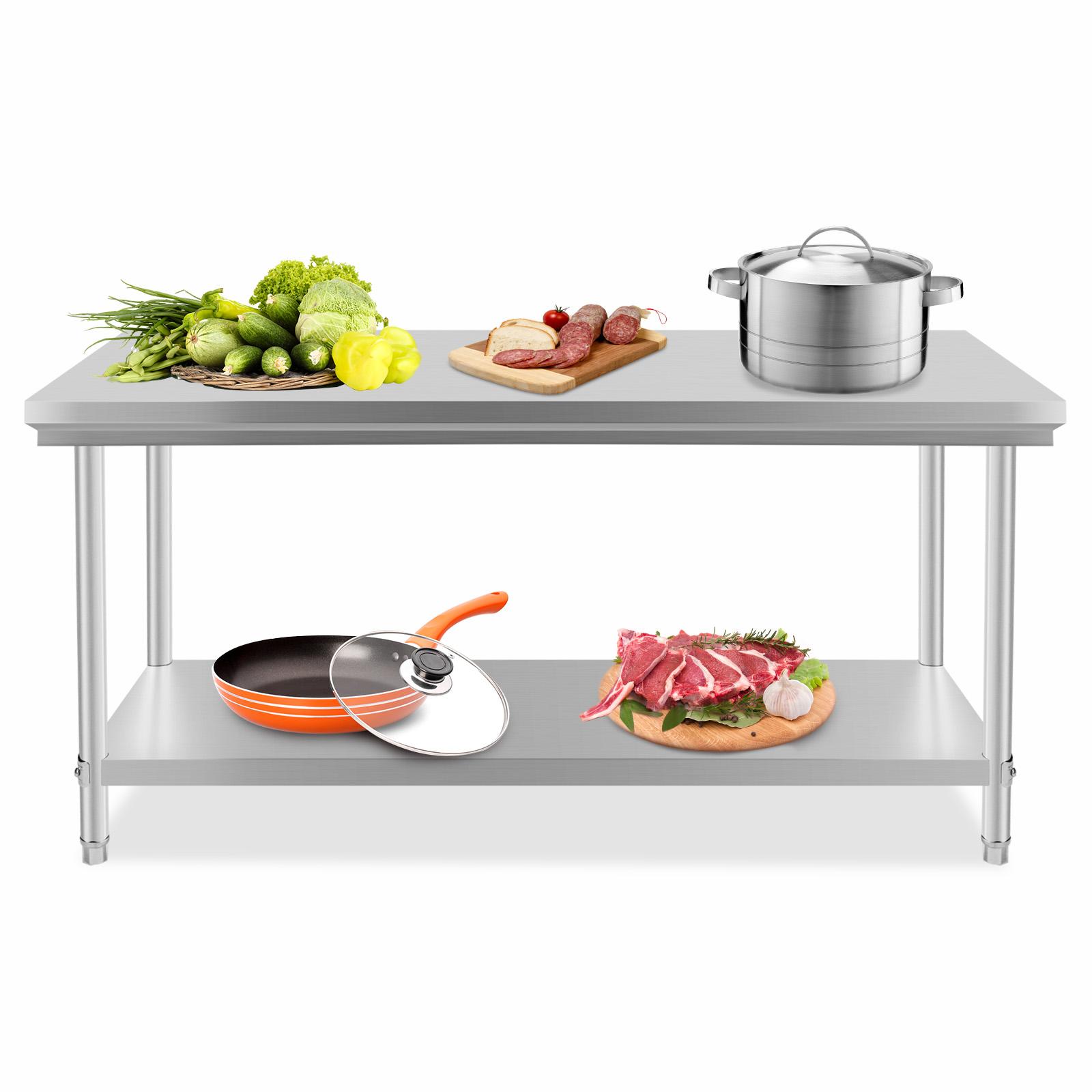Restaurant stainless steel kitchen work prep table nsf chef shelf com - Jns03 Maple Prep Table Restaurant Equipment For Your Home Kitchen