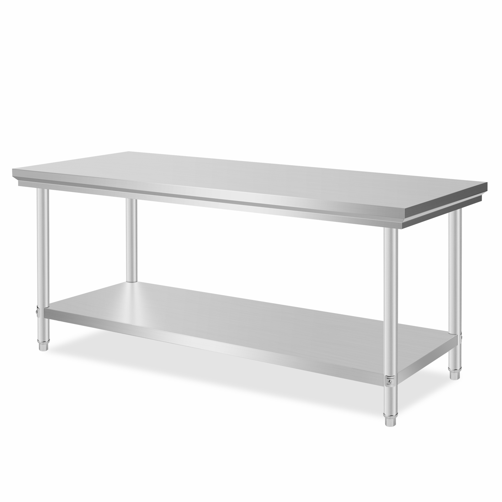 New 201 Stainless Steel Kitchen Work Bench Food Prep Table Top 762x1829mm Ebay
