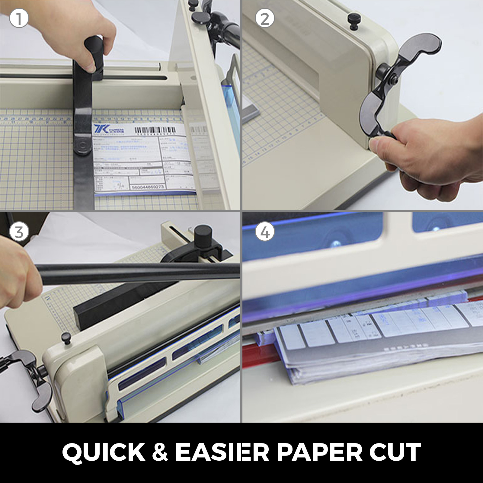 "12//17//19/"" Width Guillotine Paper Cutter Stack Paper Trimmer Metal Base"