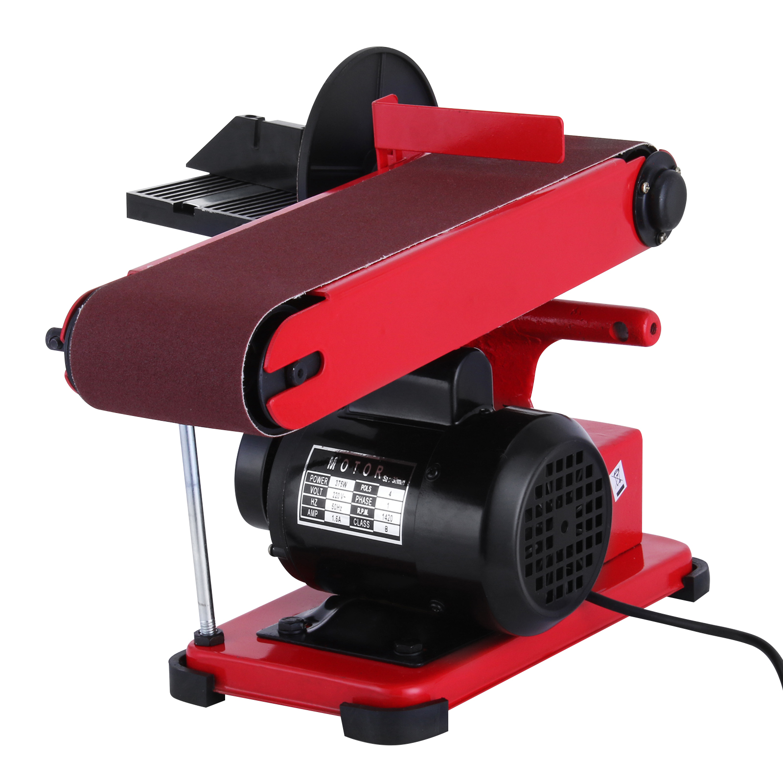 375w bench belt and disc sander grinder adjustable tilt aluminum frame linisher ebay Bench belt sander