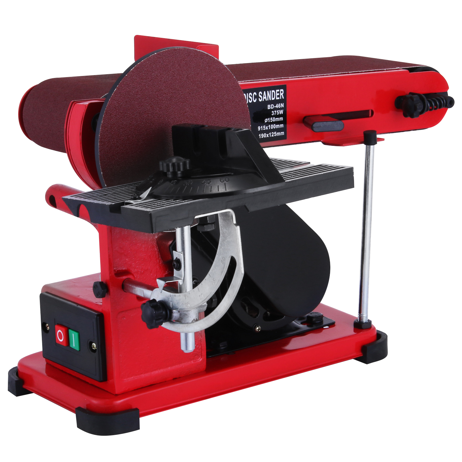 375w bench belt and disc sander grinder aluminum frame benchtop linisher machine ebay Bench belt sander