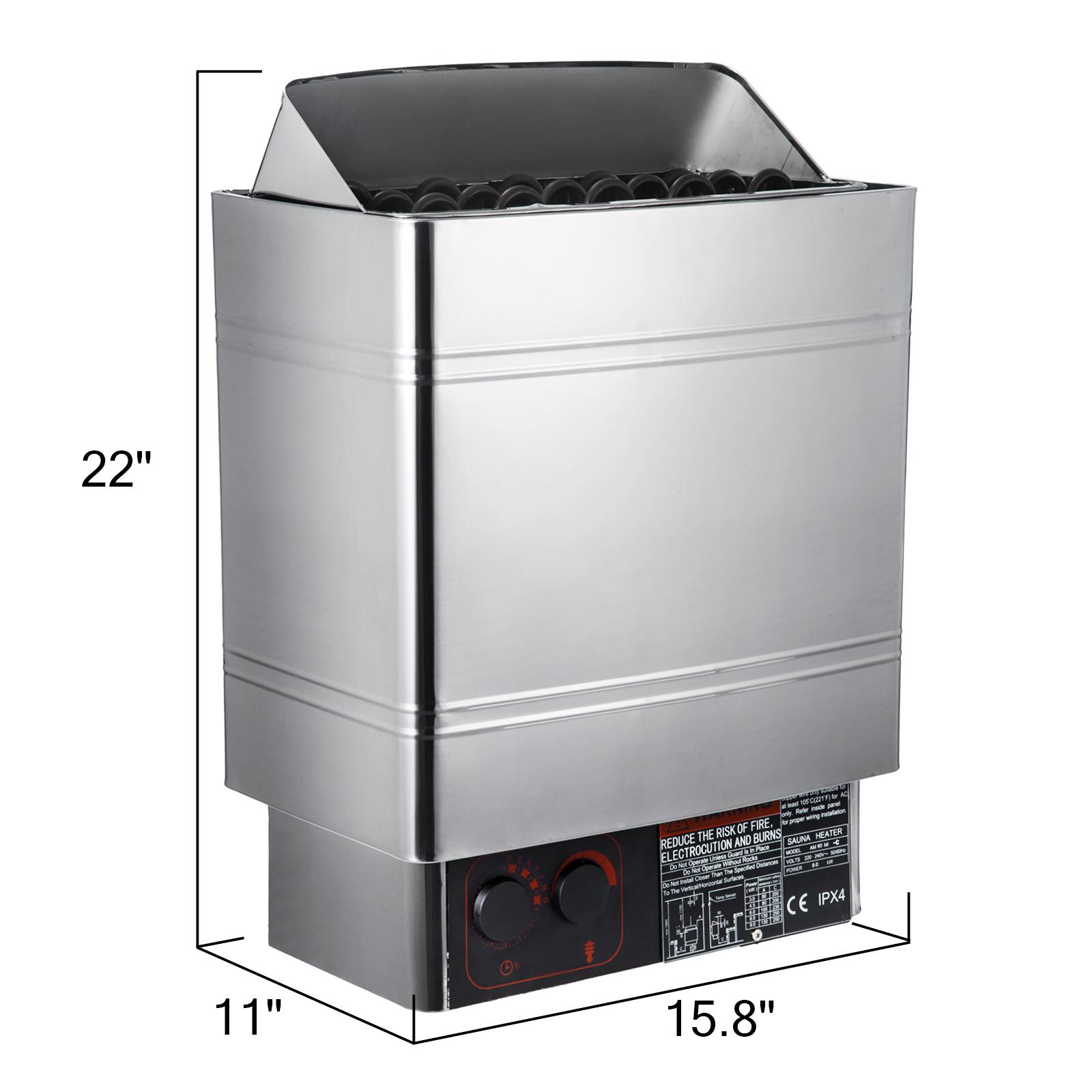 Temperature 6//8//9KW Wet/&Dry Sauna Heater Stove Relief Fatigue