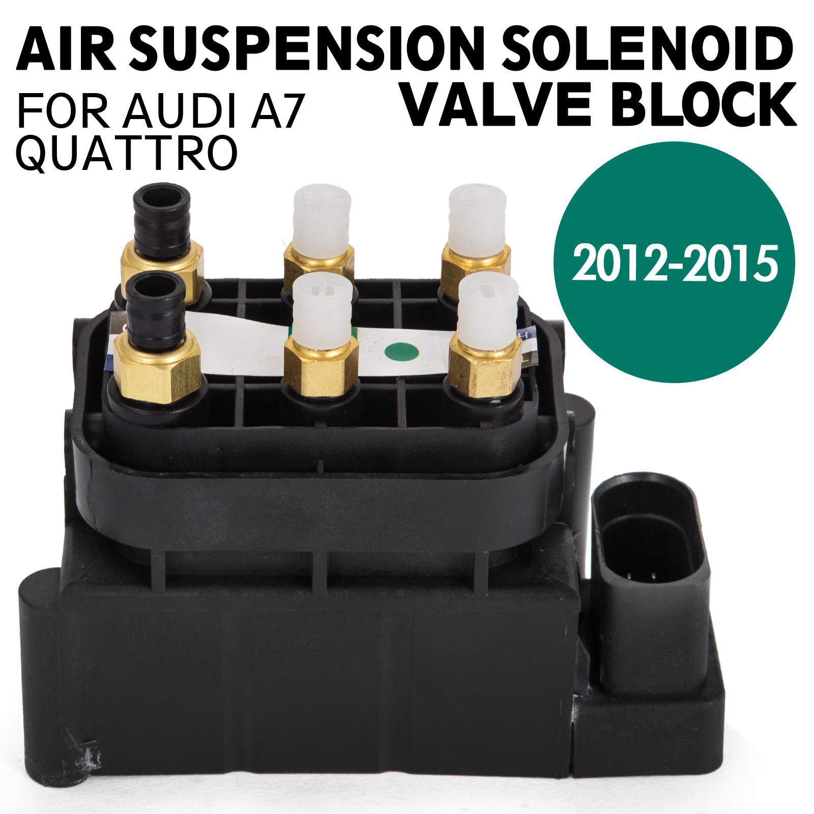 de FOR AUDI A7 Quattro AIR RIDE SUSPENSION SOLENOID VALVE BLOCK 2012- al