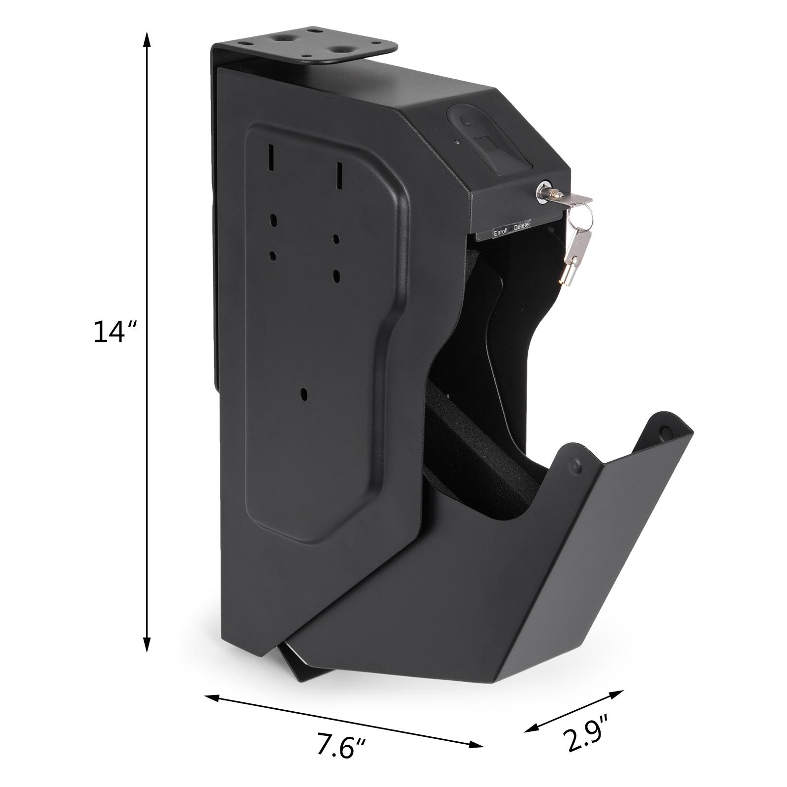 Pistol-Safe-Hand-Gun-Safe-Box-Biometric-Fingerprint-Storage-Home-Office-Security thumbnail 2