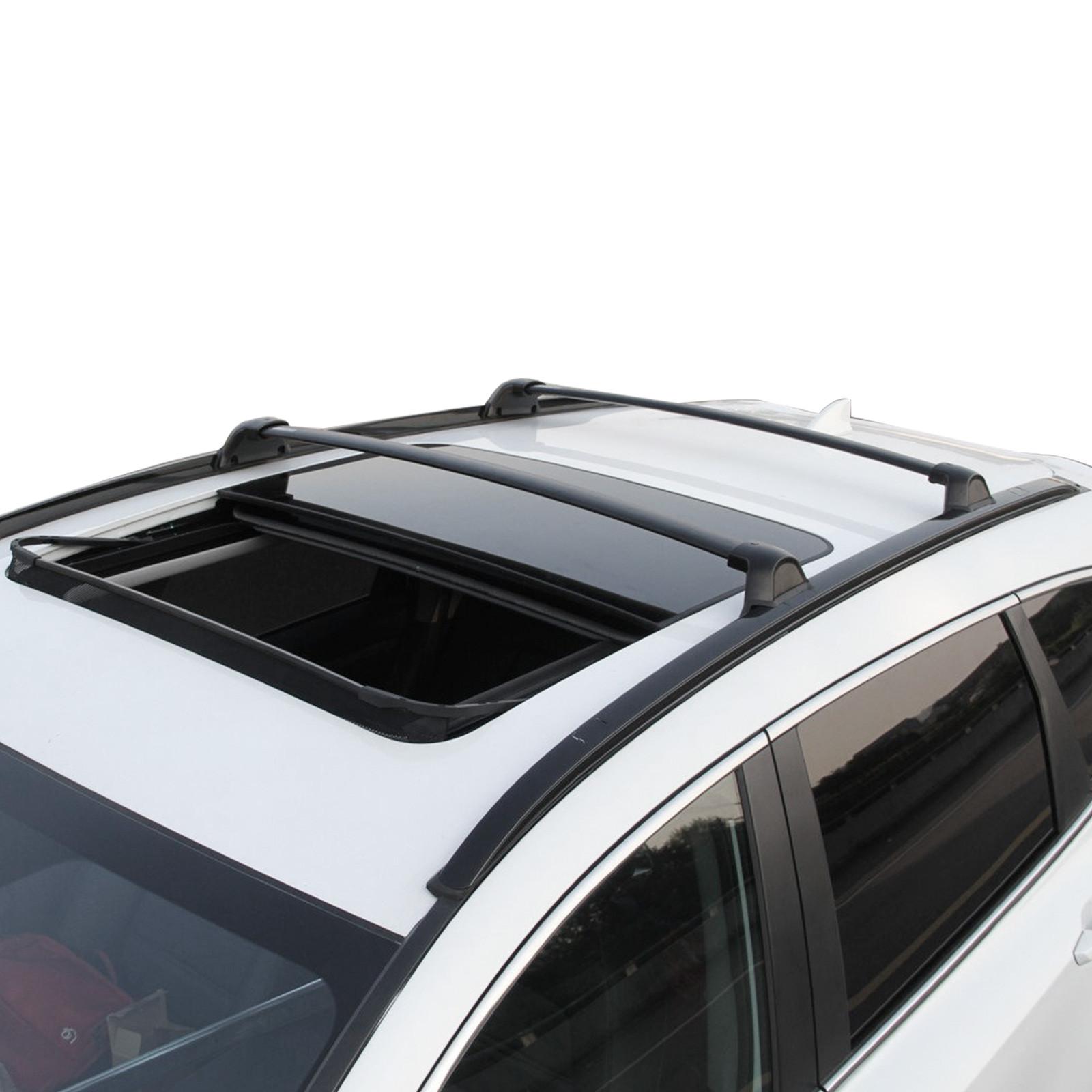 pcs kit baggage roof rails rack crossbar fit honda cr  crv     ebay