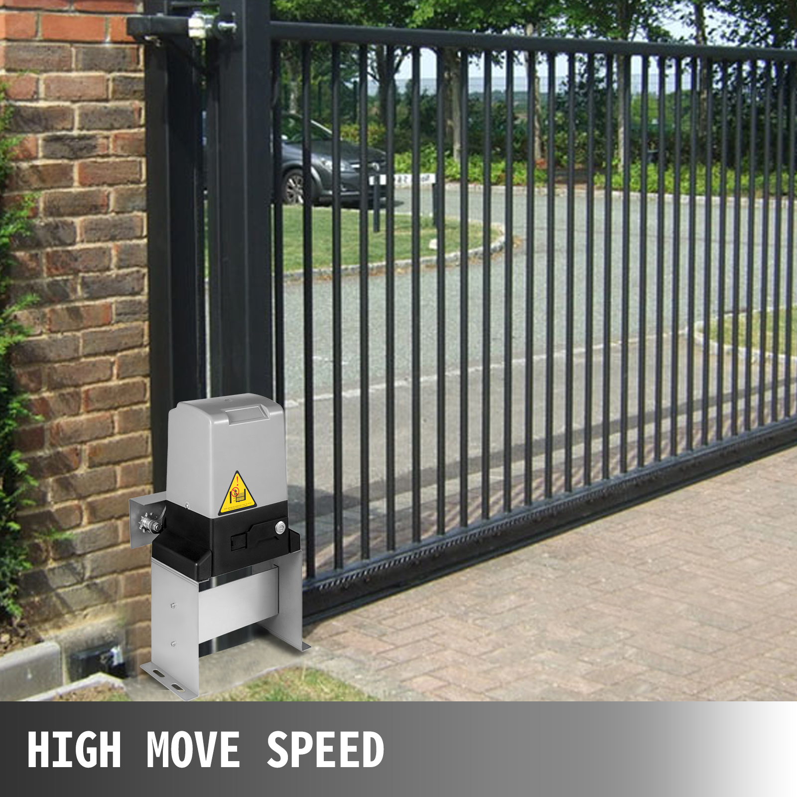 Automatic Sliding Gate Opener With Compatible Remote Control For Fence Driveway