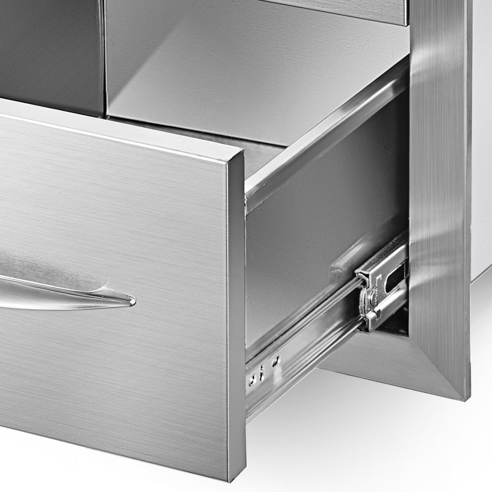 Schubladen Schubkasten Outdoor-Küche Aussenbereich Edelstahlschrank BBQ Tür