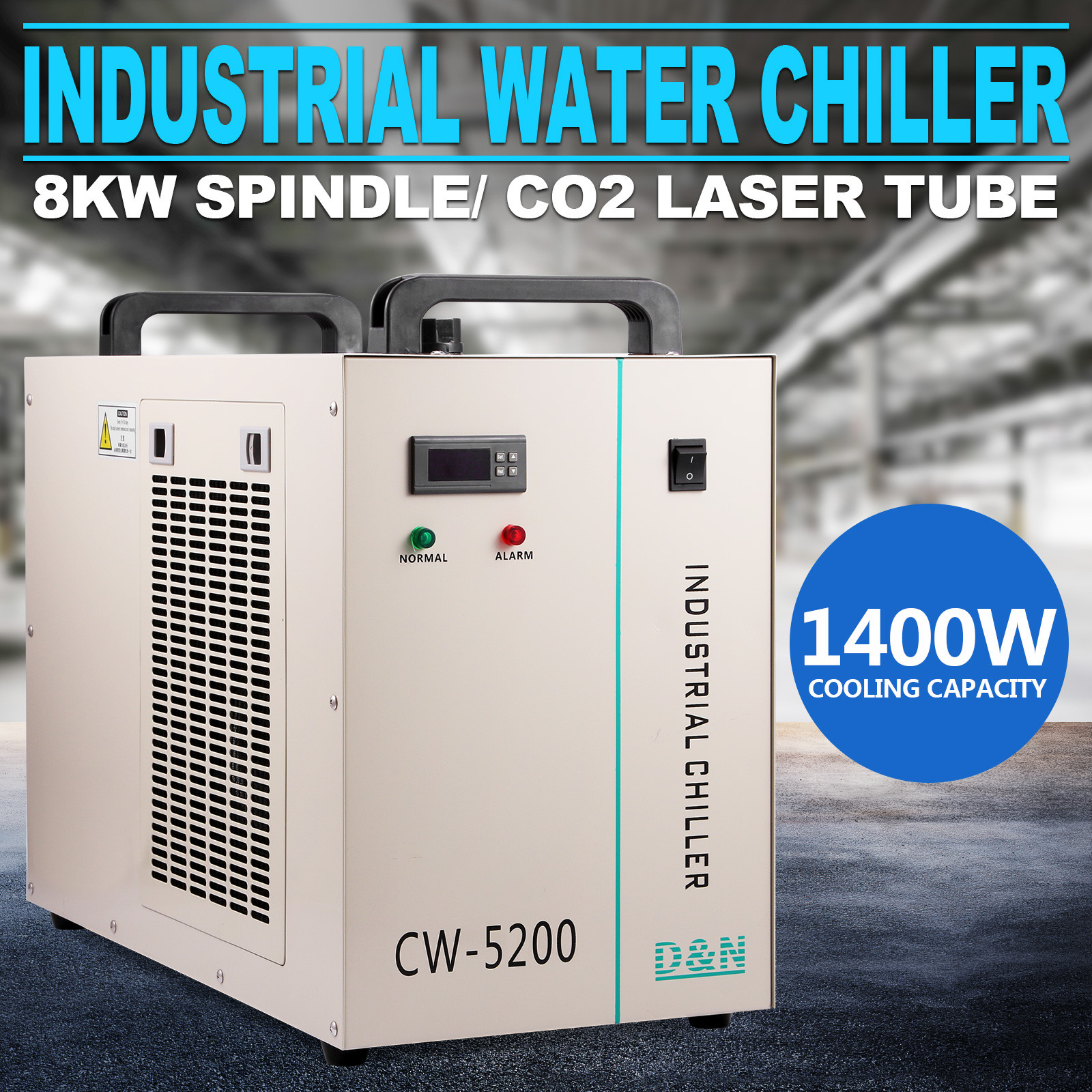 CW 5200DG INDUSTRIAL WATER CHILLER 6L TANK THERMOLYSIS TYPE LASER  #06A3C5
