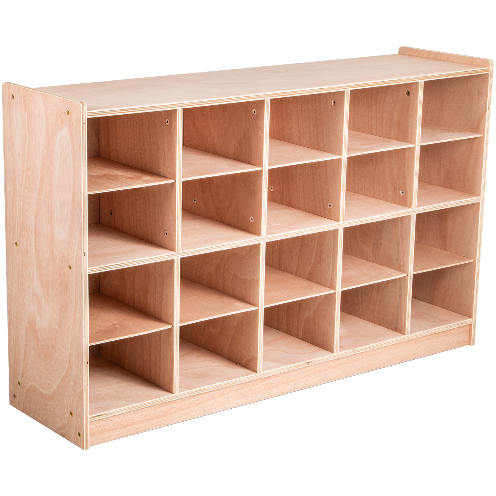 Classroom-Storage-Cabinet-Wooden-Cubby-20-Grids-Organizer-W-Casters-Non-toxic thumbnail 10