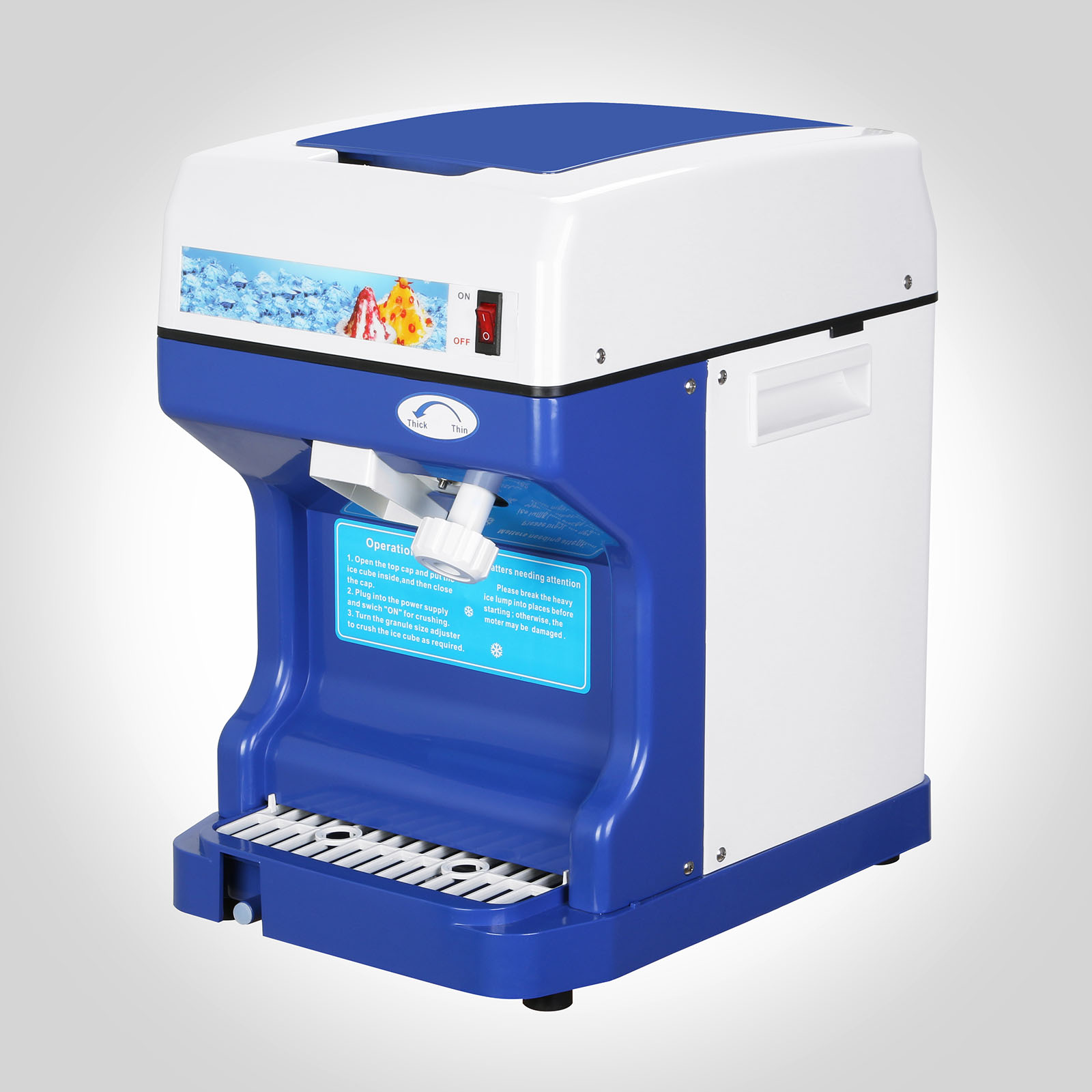 Ice-Crusher-Maker-Commercial-Ice-Shaver-Snow-Cone-Equipment-Machine ...