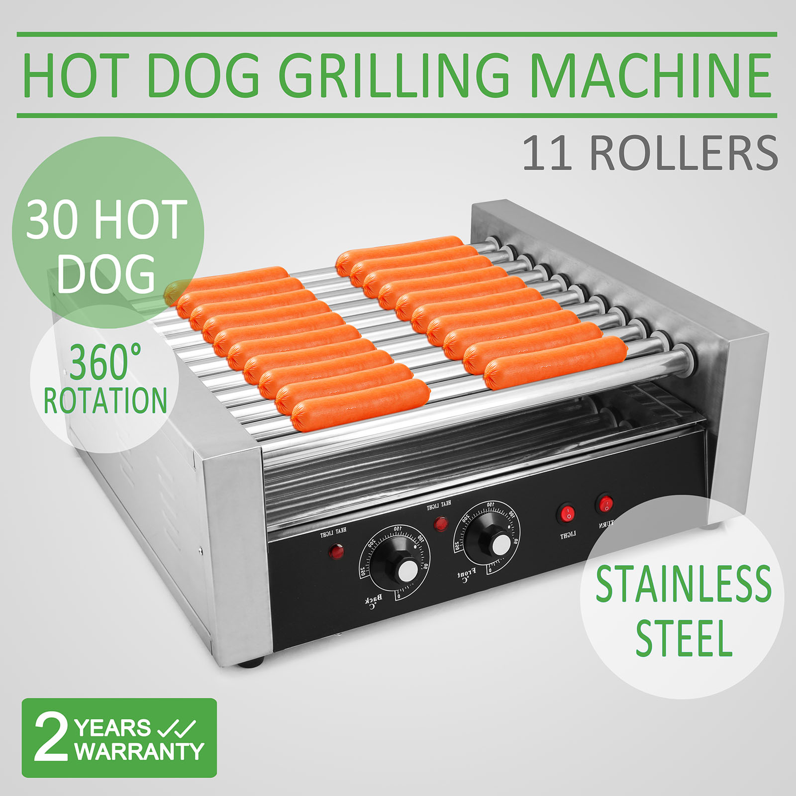 Hot Dog Commercial Retro Grill