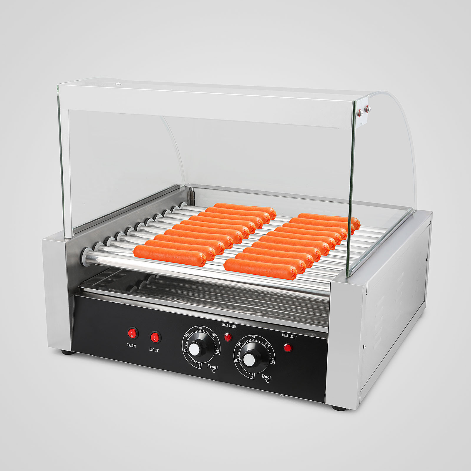 new commercial 30 hot dog hotdog 11 roller grill cooker machine w cover ebay. Black Bedroom Furniture Sets. Home Design Ideas