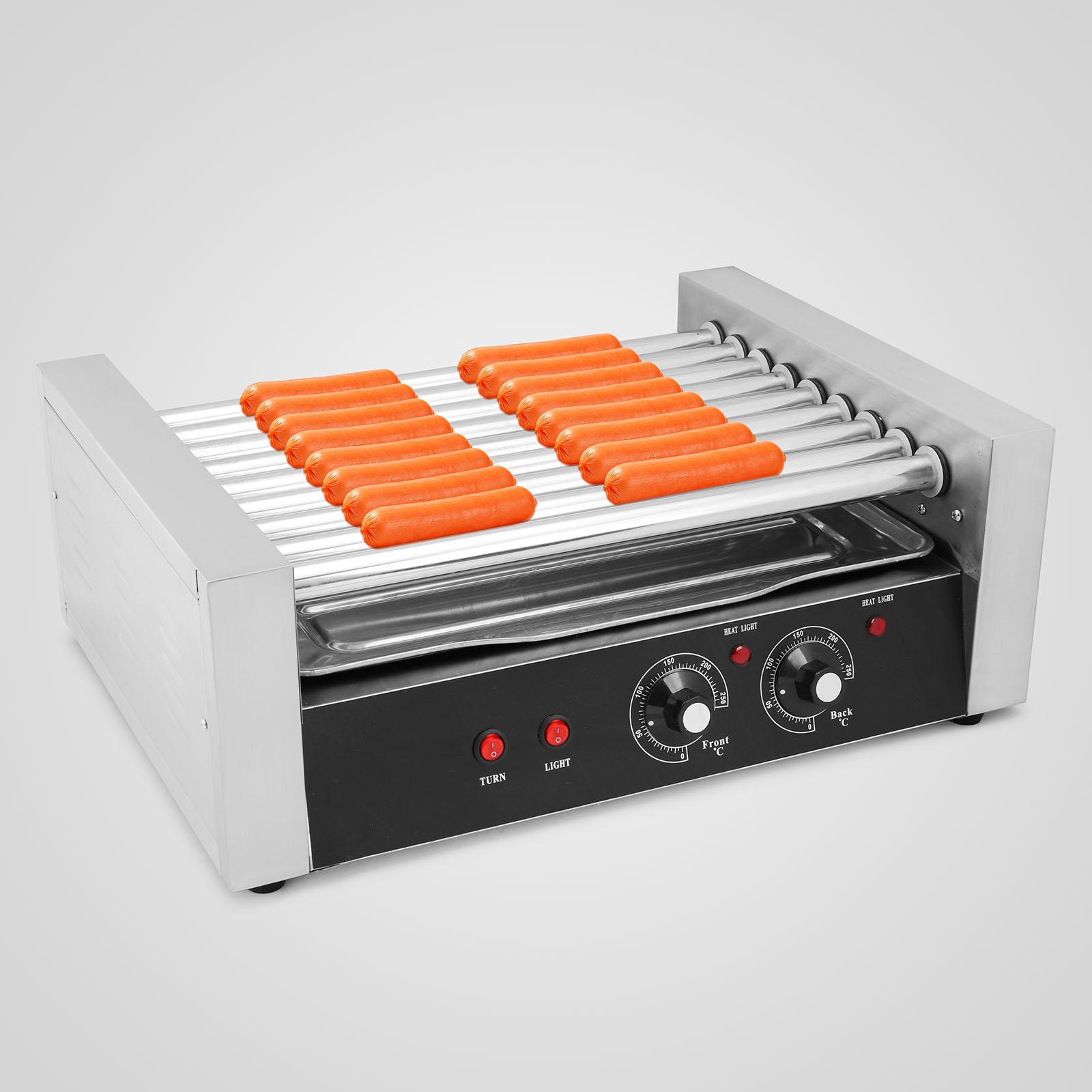 new commercial 24 hot dog hotdog 9 roller grill cooker machine vending ebay. Black Bedroom Furniture Sets. Home Design Ideas