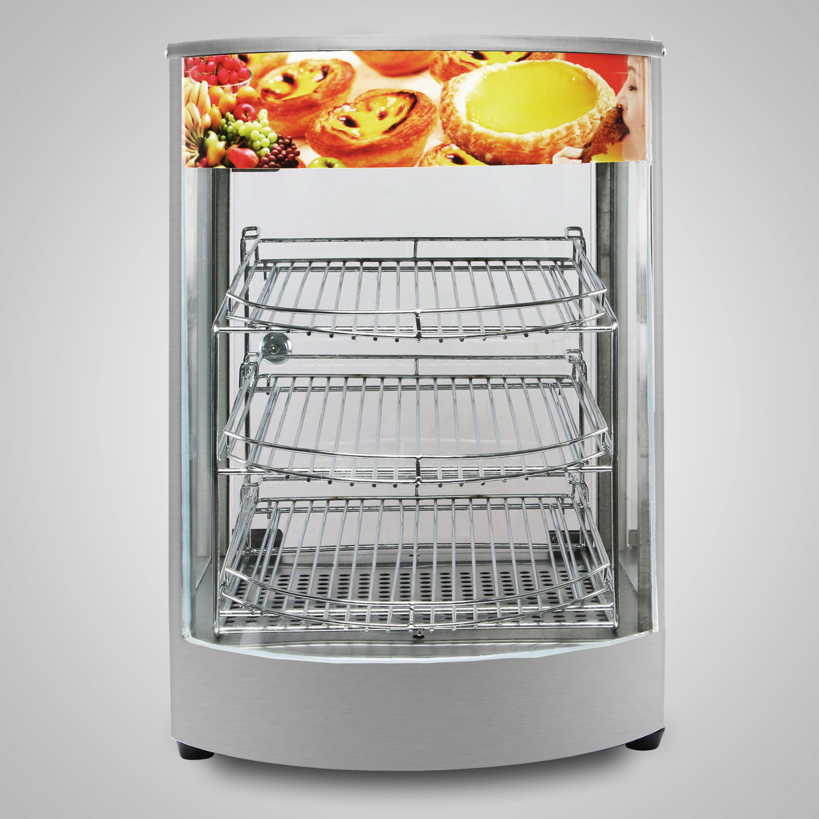 Glass Food Warmers ~ Heated pizza display cabinet food warmer countertop glass