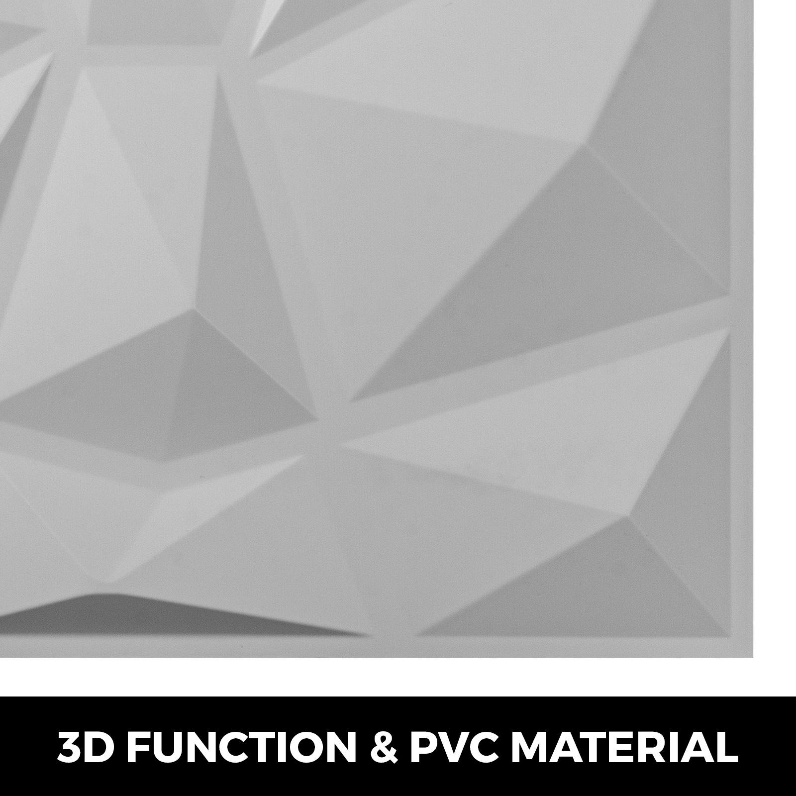 Paquet de 13 Panneaux muraux 3D en PVC Noir//Blanc 3.25㎡ Décoration Moderne