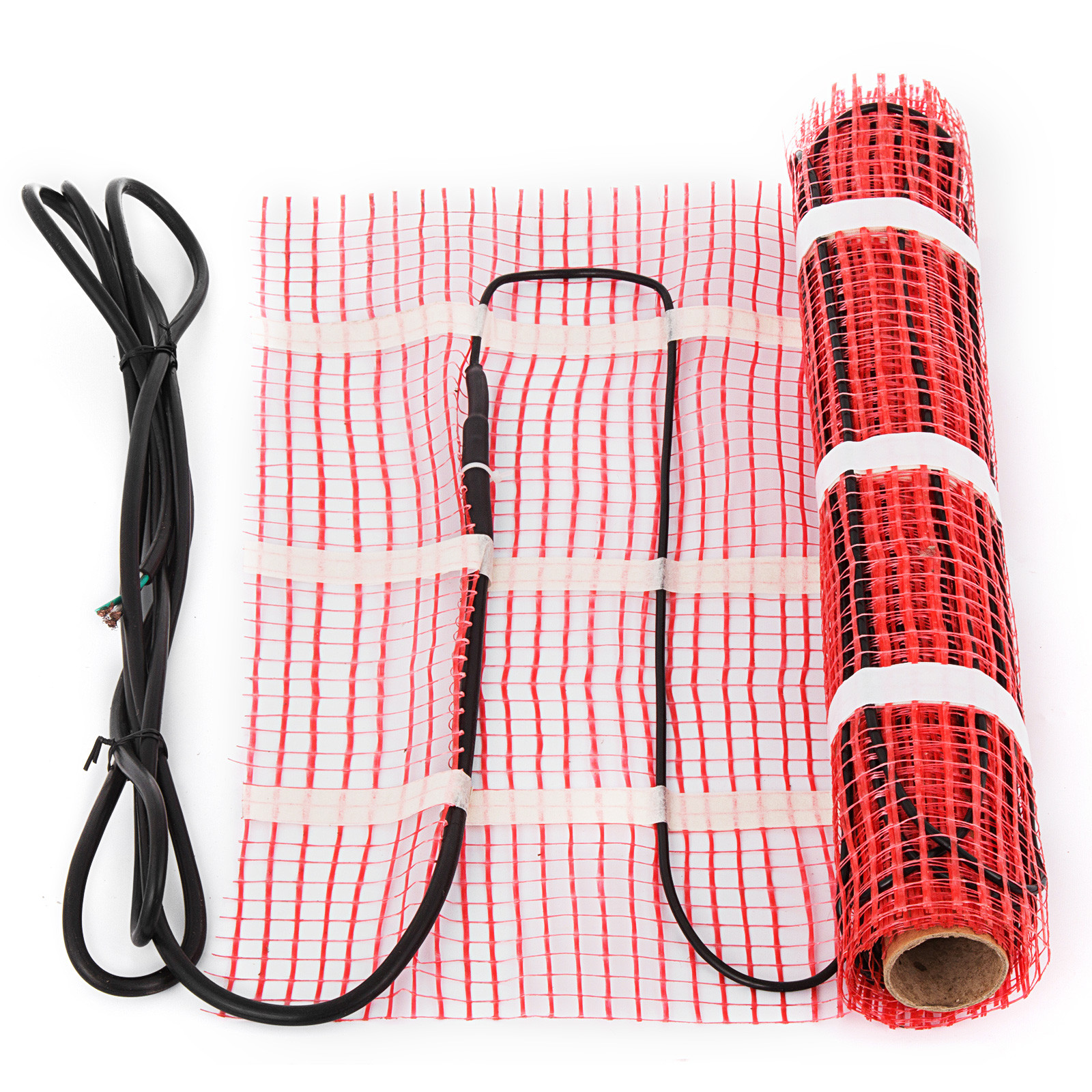 Mat with Thermostat Alarmer Electric Tile Radiant Warm Floor Heat Heated Kit