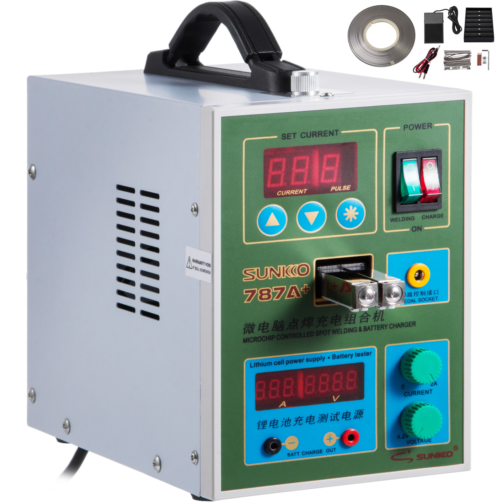 Details about 787A+ Pulse Spot Welder for 18650 & Battery Pack Charger 1Kg  Nickel Strip 500A