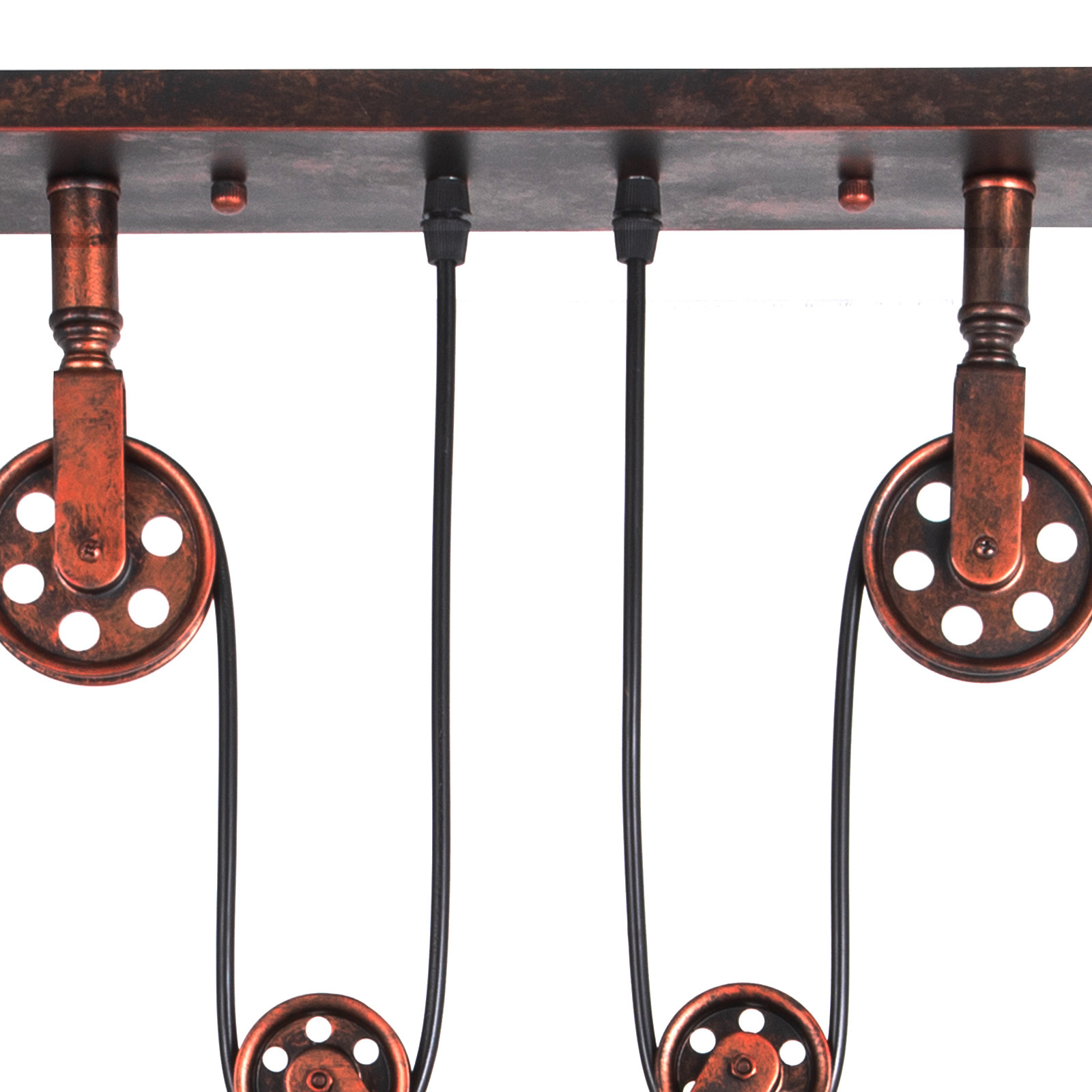 Industrial Vintage Industrial Hanging Pulley Pendant Lights Retractable E27x3