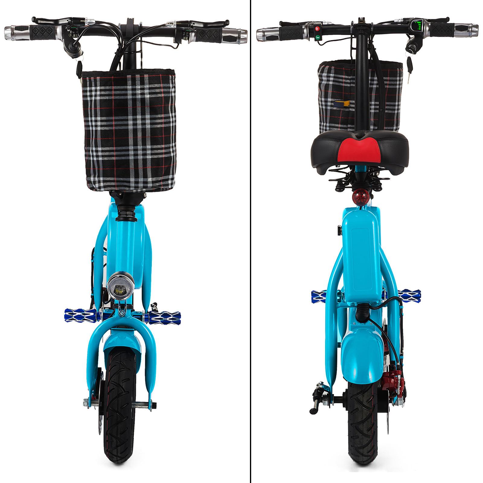 400W Folding Electric Bike Smart Cruise Mode Sensor LED Light Max Speed 35km//h