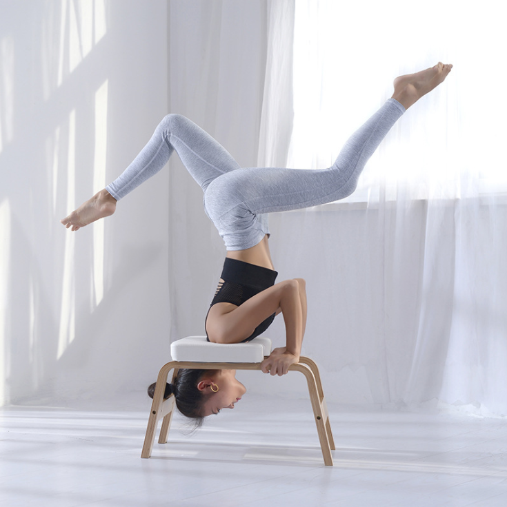 Headstand Bench Yoga Chair Inversion Bench Training Equipment PU Cotton Home Gym