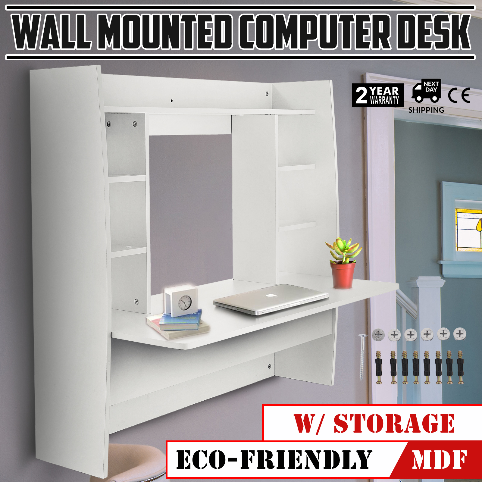 Wall-Mounted-Floating-Computer-Desk-with-Storage-Shelf-Fashion-Durable-Office