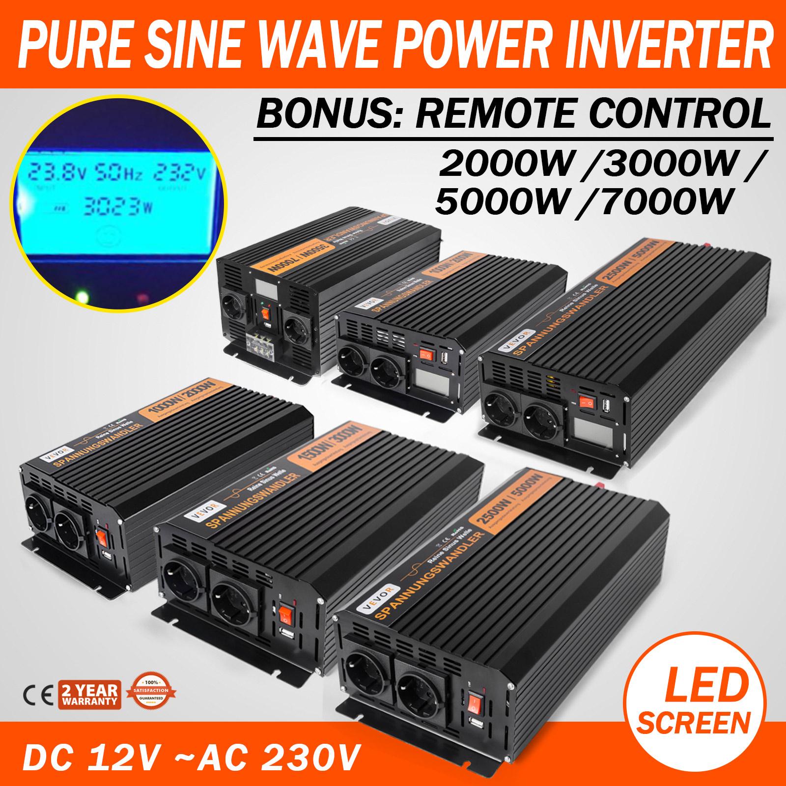 300W//500W//700W Spannungswandler Solar Power Inverter 12V//220V Wechselrichter