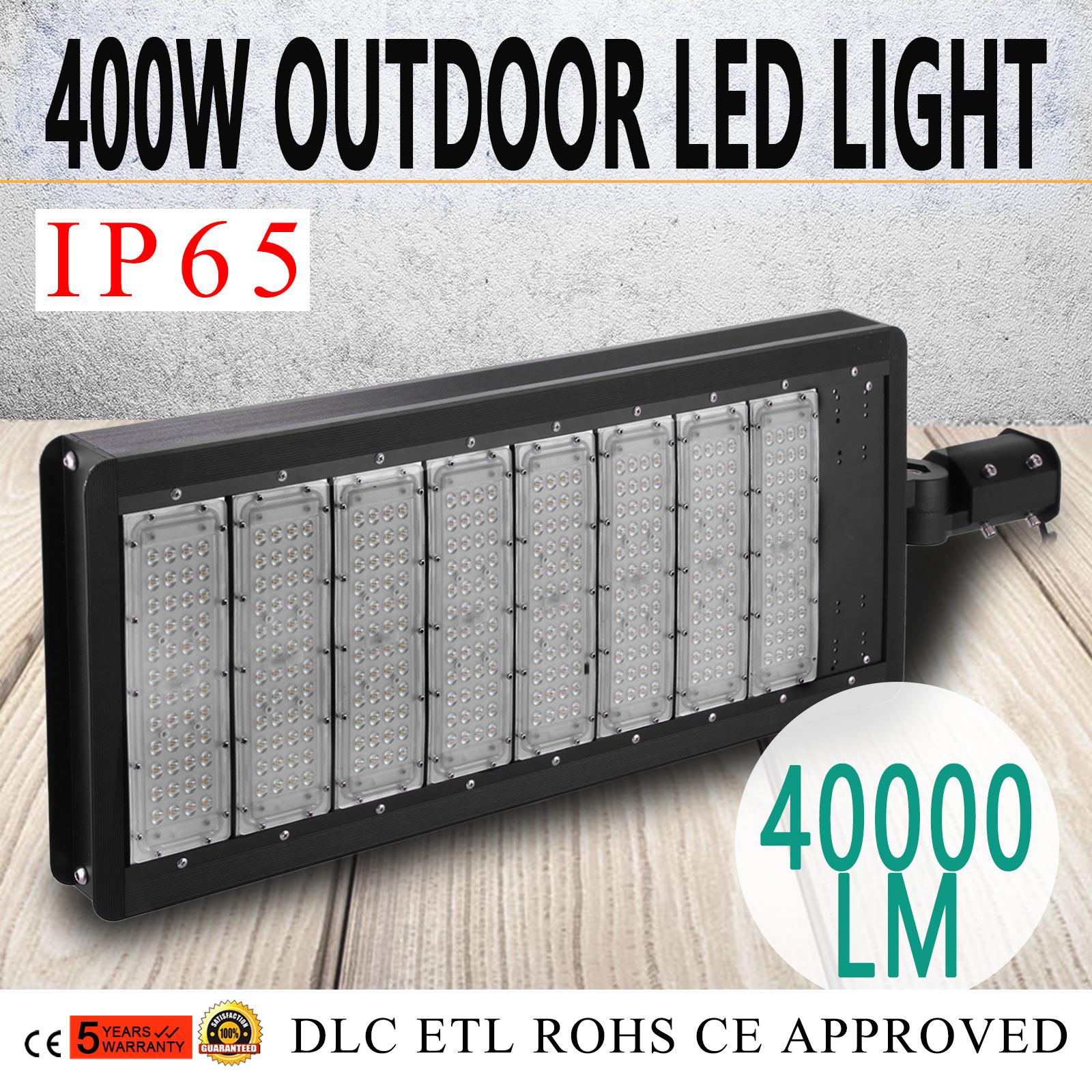 100W 200W 300W 400W LED Parking Lot Pole Light Street Lamp Car Park White Square
