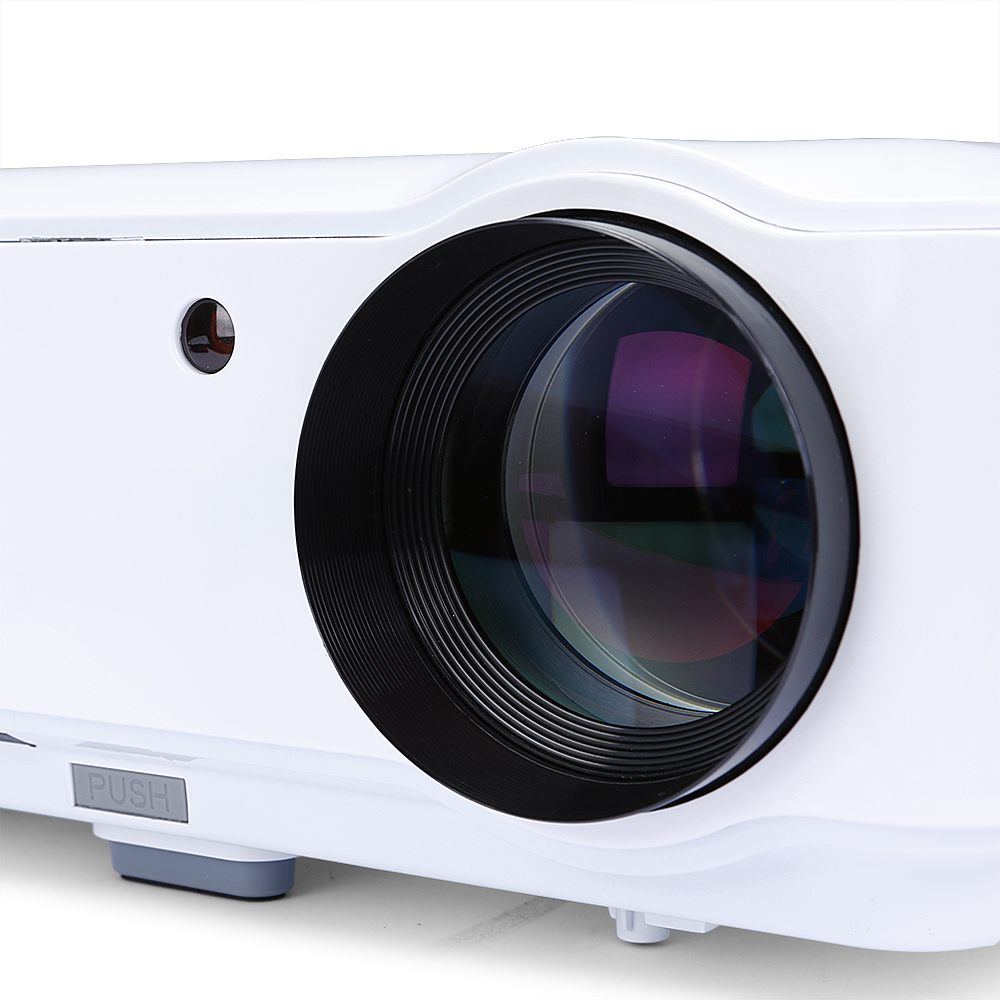 4500 lumens multimedia led projector 3d hdmi hd 1080p for Small projector with high lumens