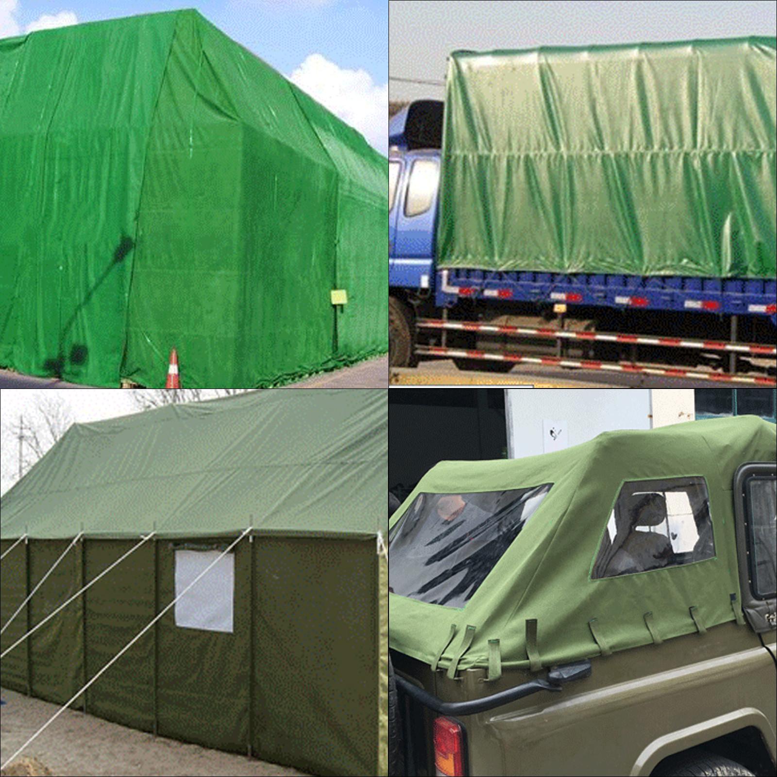 Multi-size Canvas Tarp Green Cotton Tarpaulin Trucks Supplies Firewood