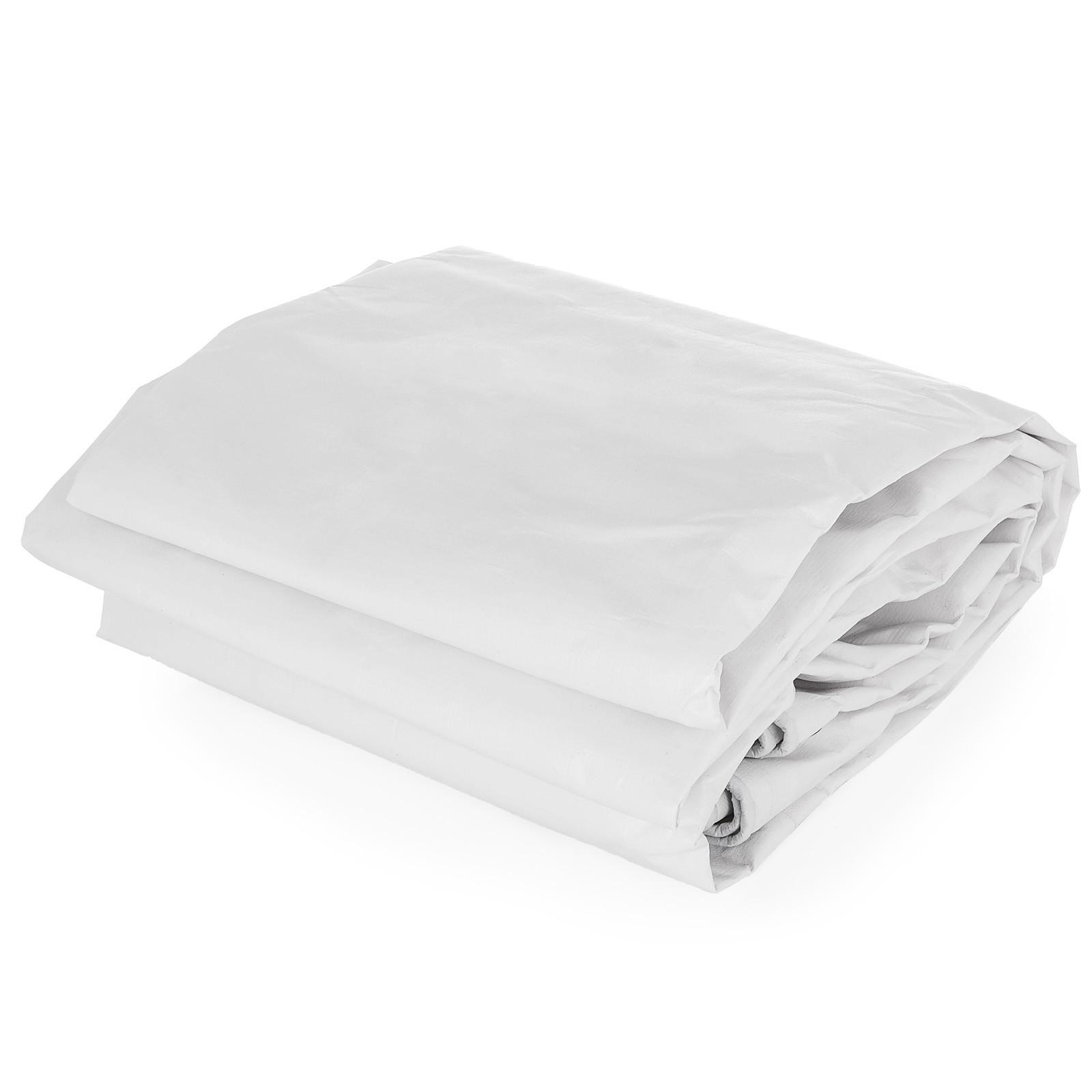Multi-size White Poly Plastic Linoleum Tarpaulin Tarred Oilcloth Tear Resistant