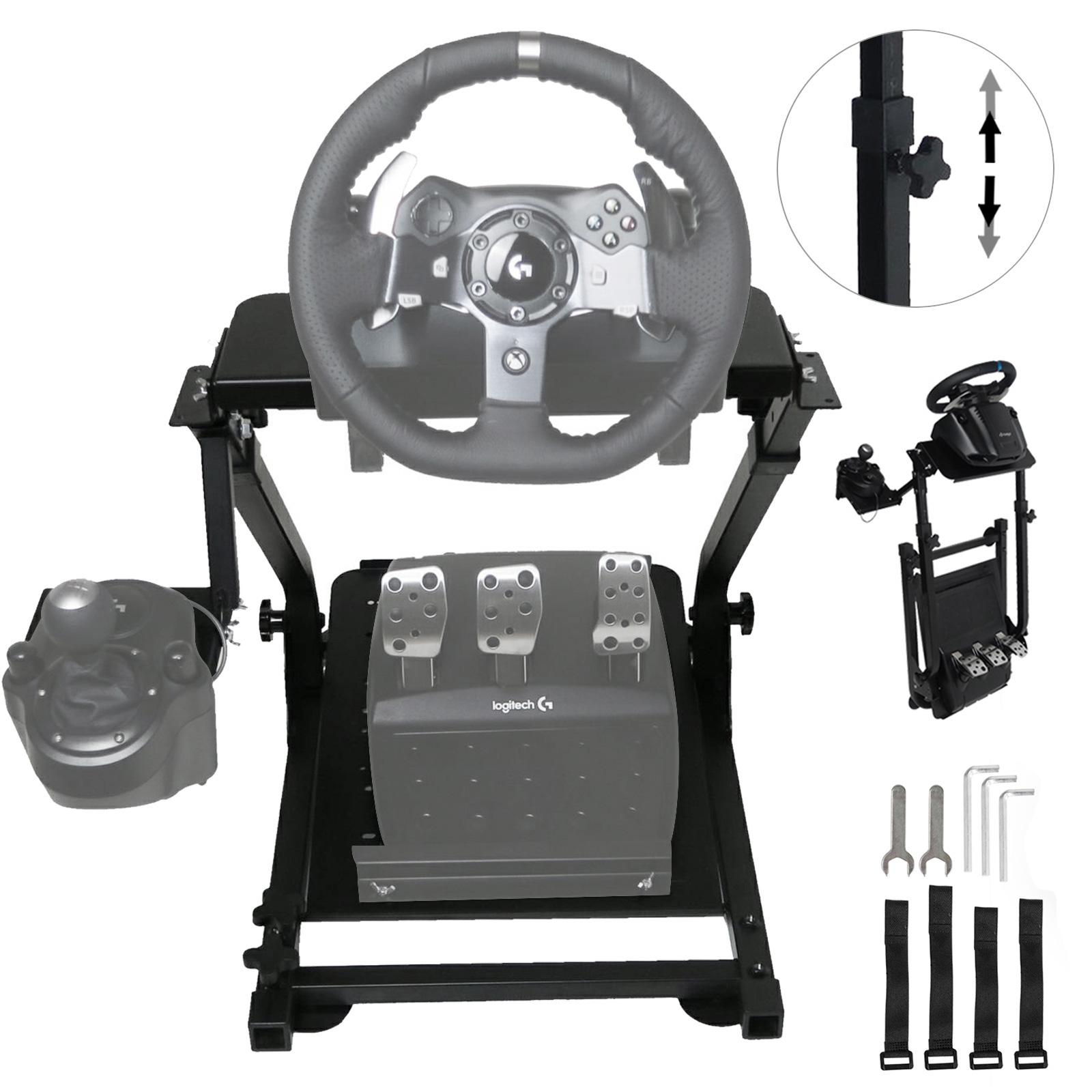 0bdb3555de7 Image is loading Racing-Simulator-Folding-Wheel-Stand-Racing-Cockpit-for-