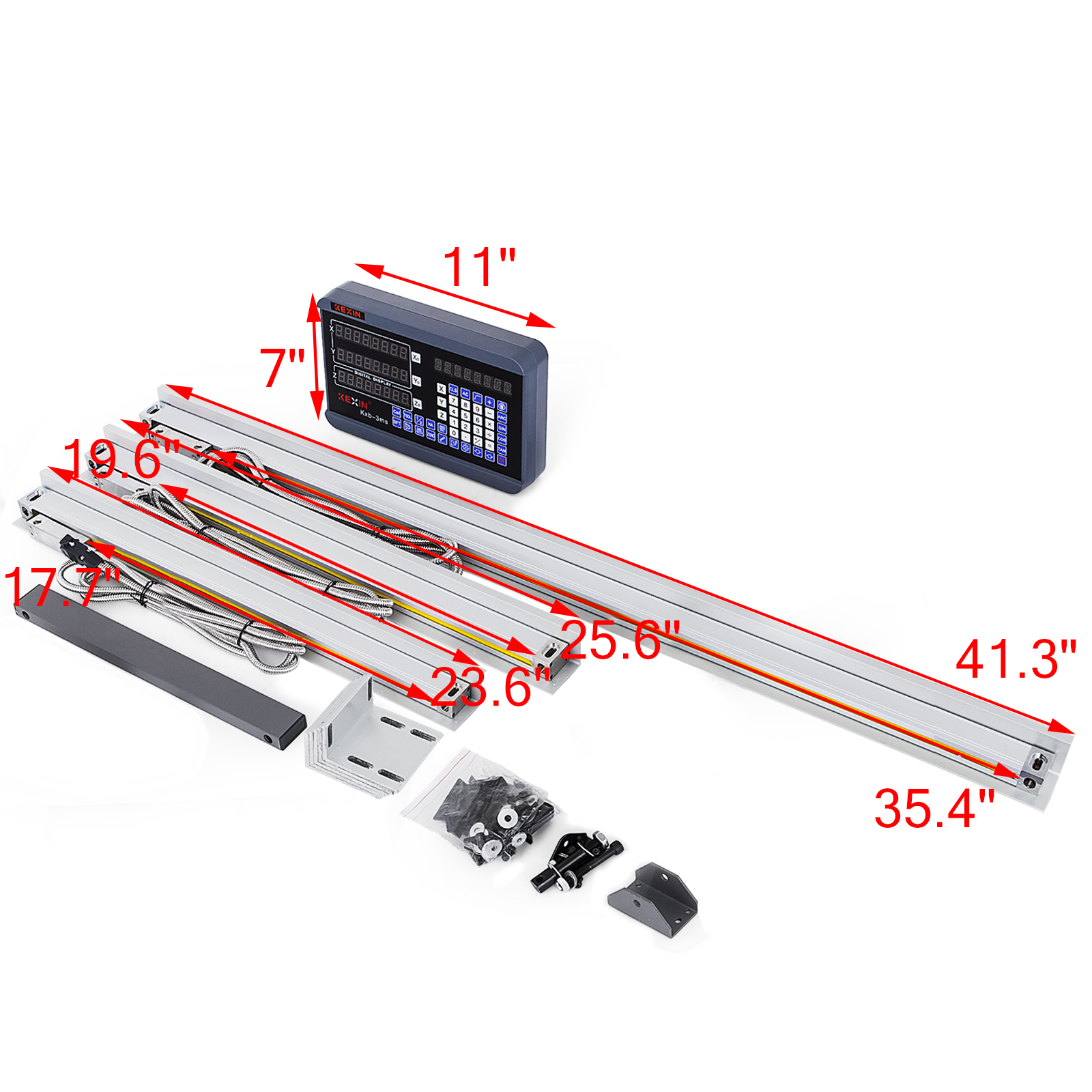 3 Axis Digital Readout DRO TTL Linear Glass Scale Encoder for Milling Lathe