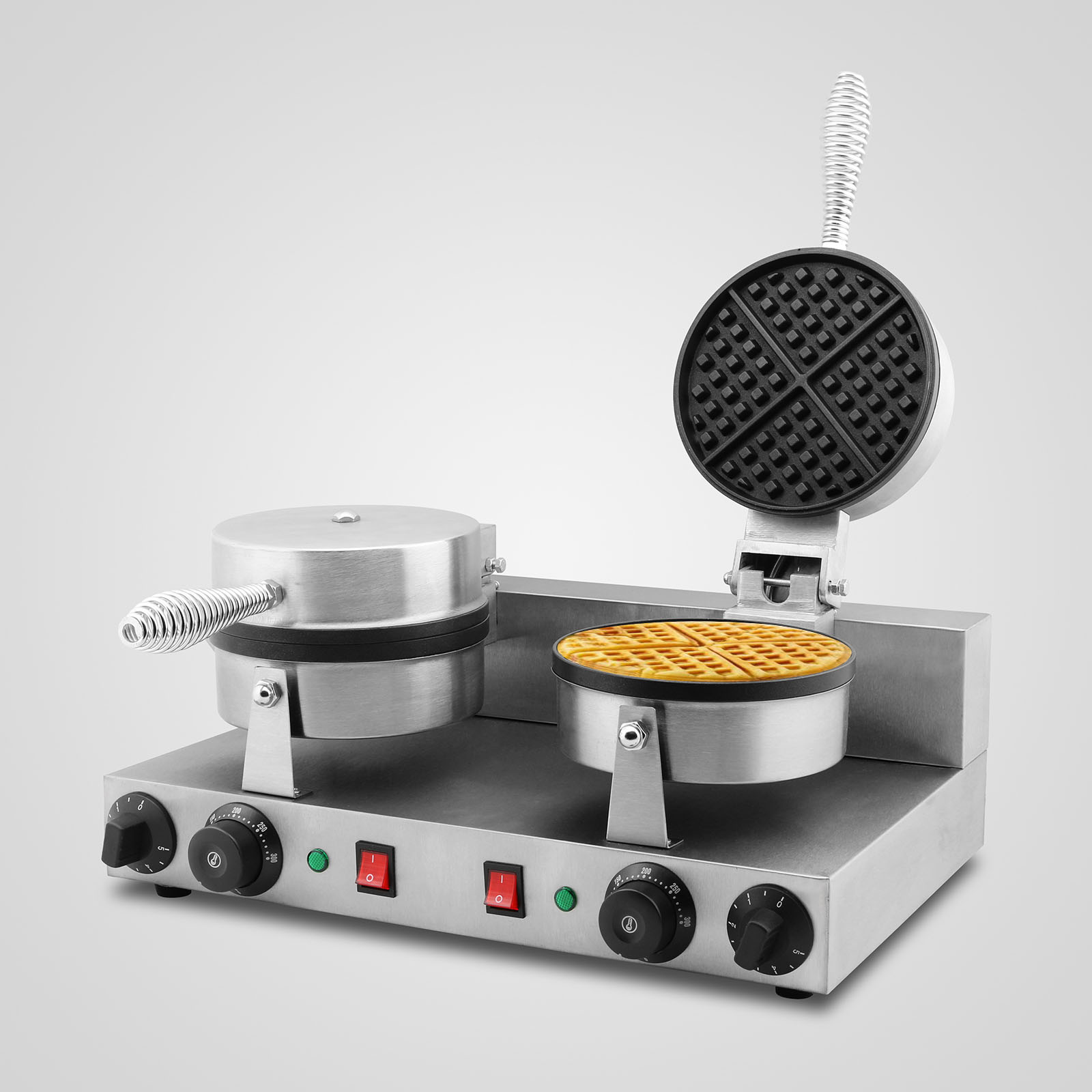 New 2400w Electric Double Waffle Maker Machine Baker Non