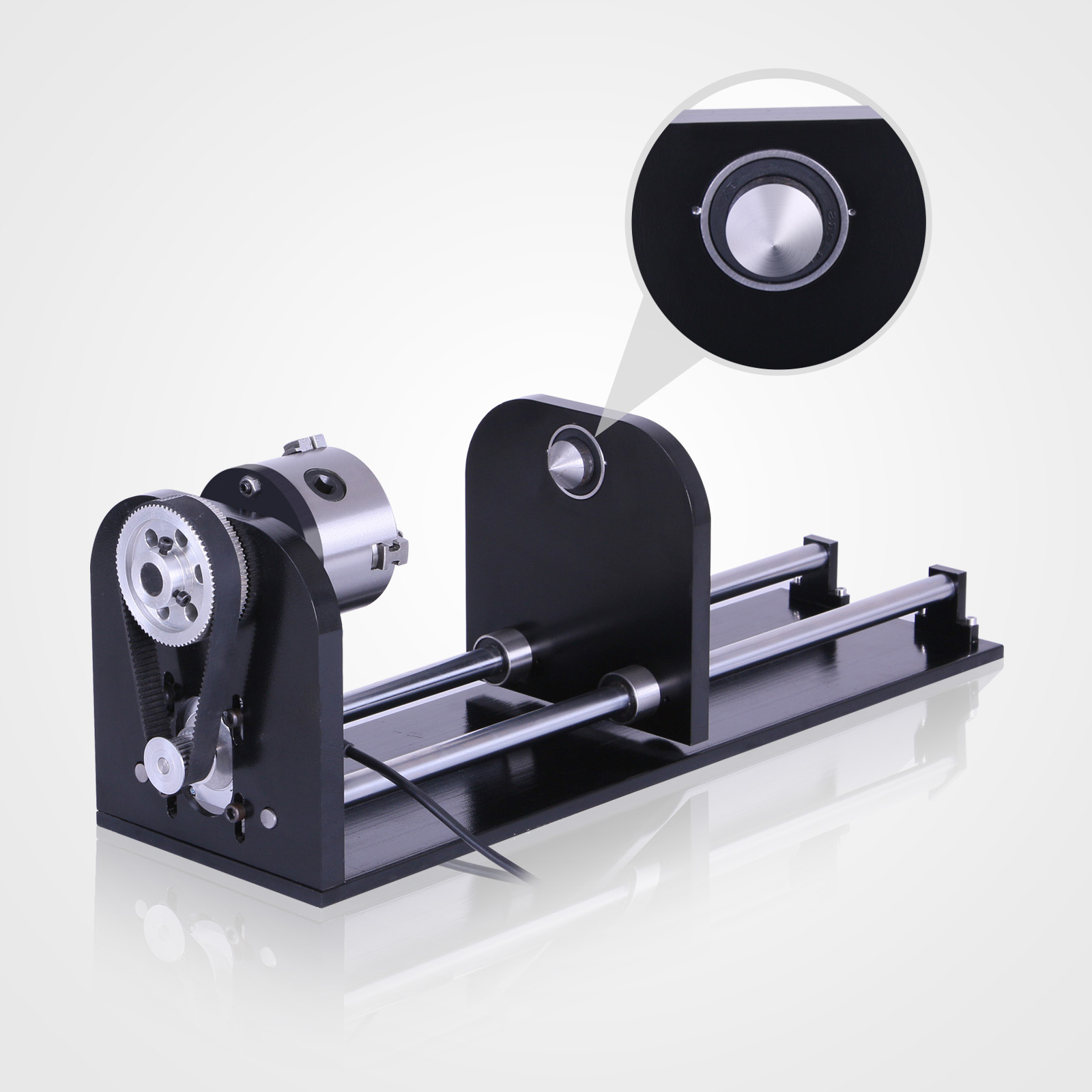 Cnc Router Rotary Axis With 80mm Engraver Laser Engraving