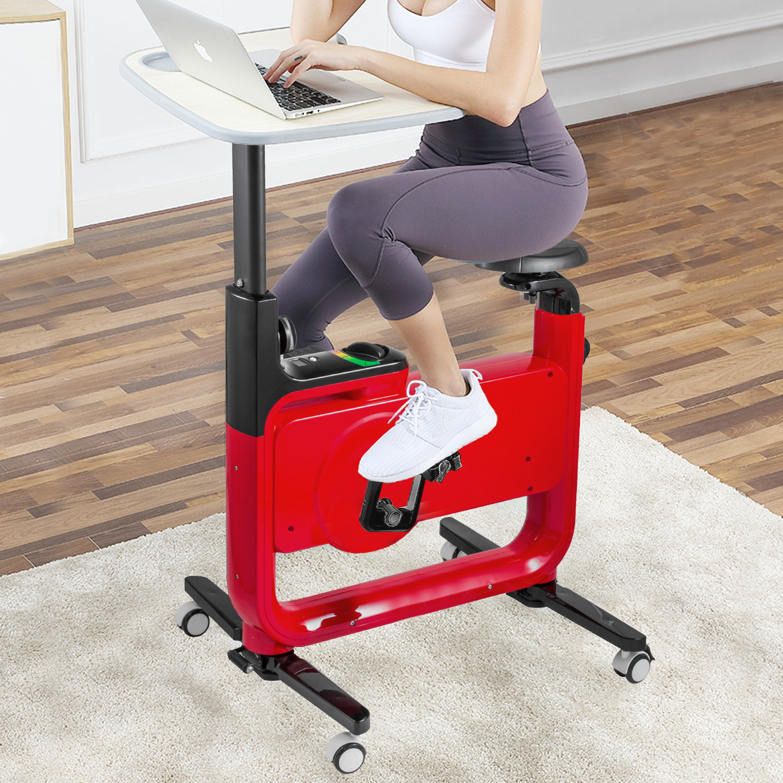 Adjustable-Foldable-Exercise-Desk-Bike-220LBS-Anti-skid-Feet-Shock-Absorption
