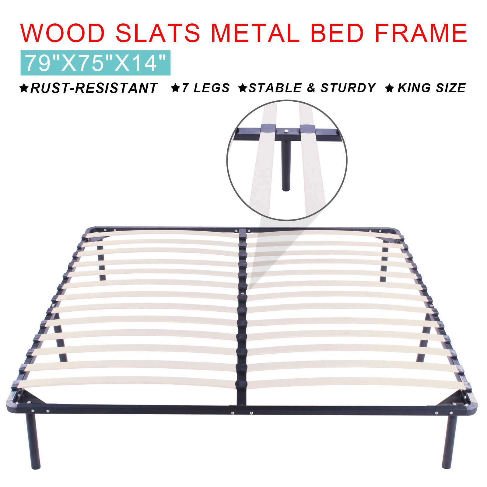 Slat bed frame king