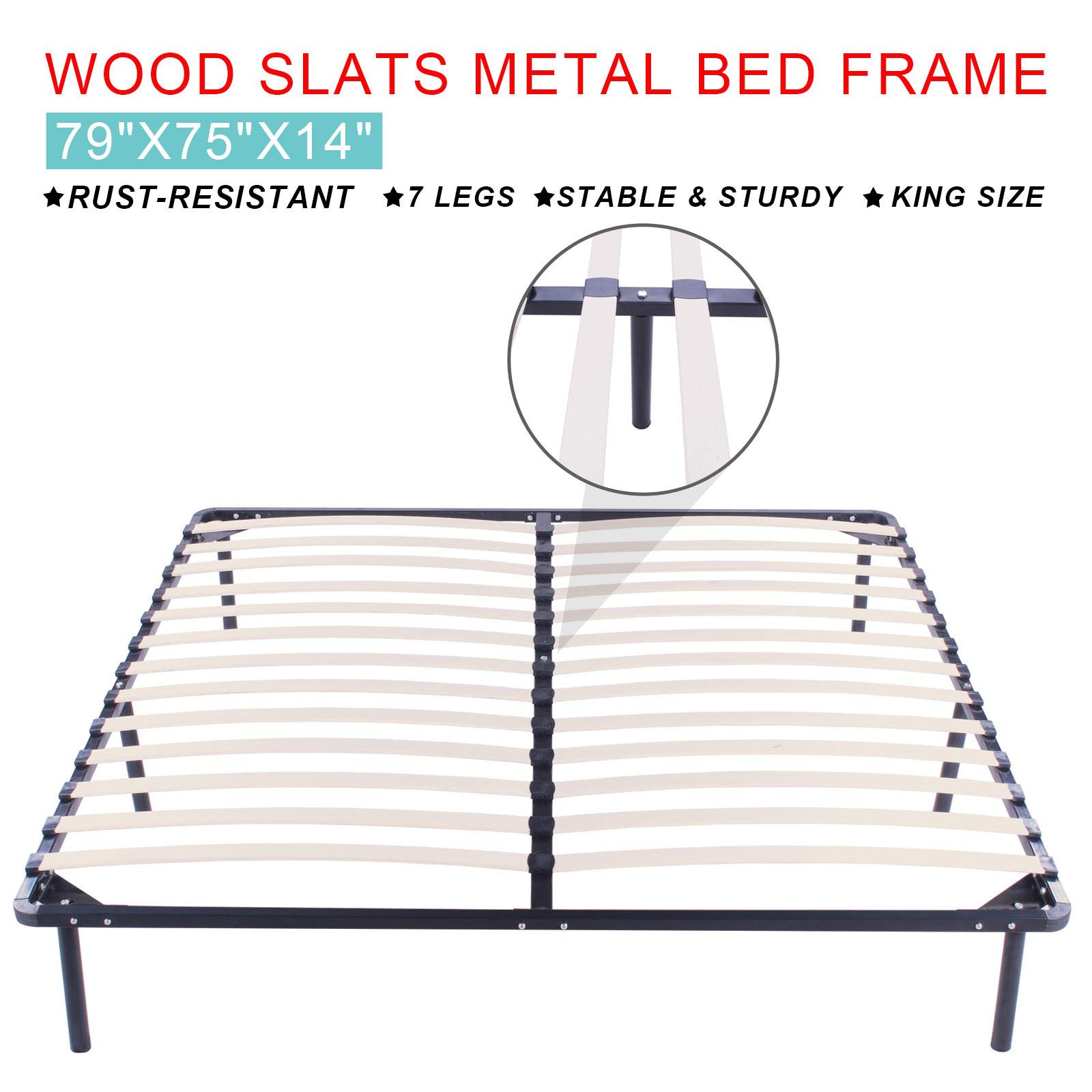 Marco de cama de metal Cama emparrillado estándar Tamaño King cama ...