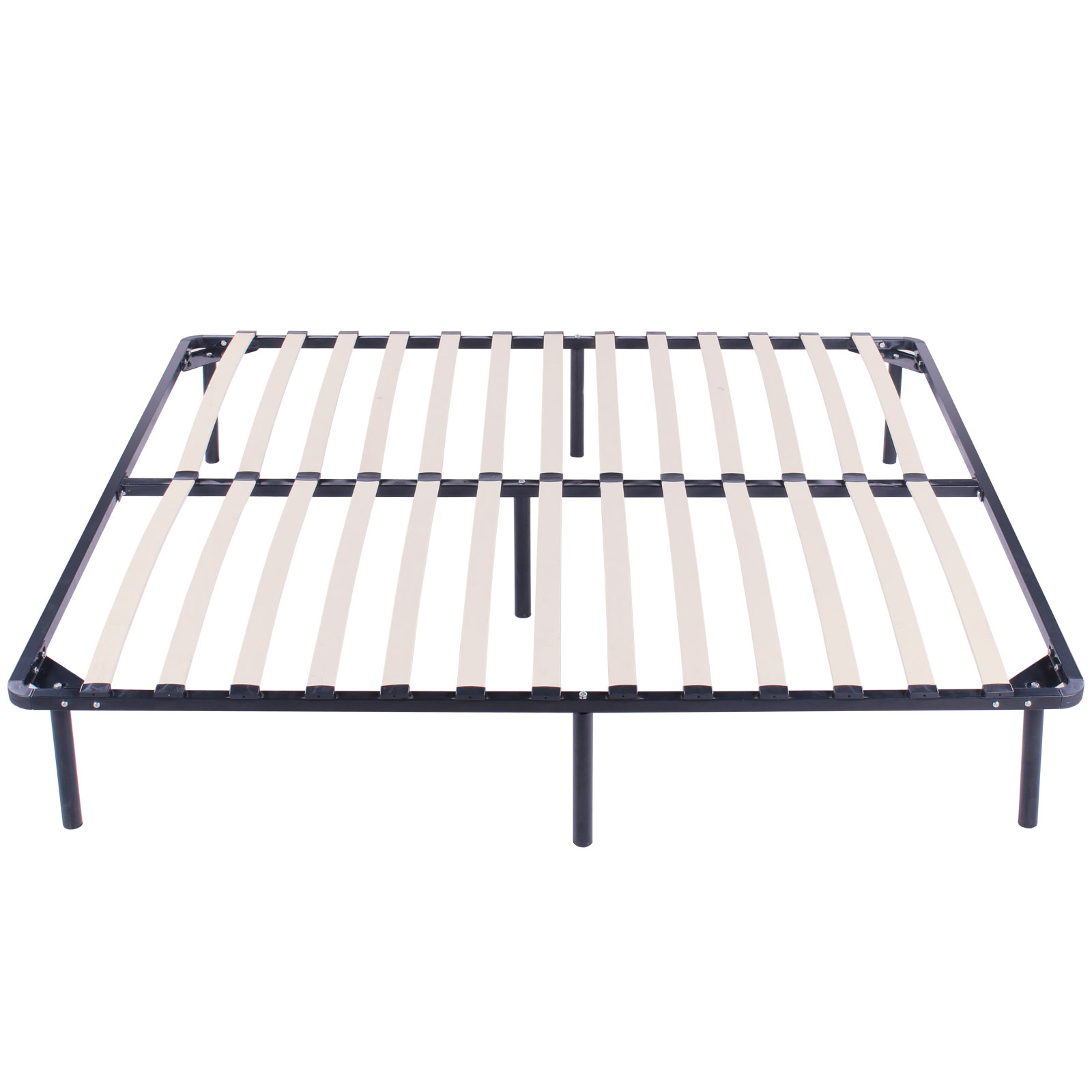 wood slats metal bed frame king size sleep wooden fantastic high reputation ebay
