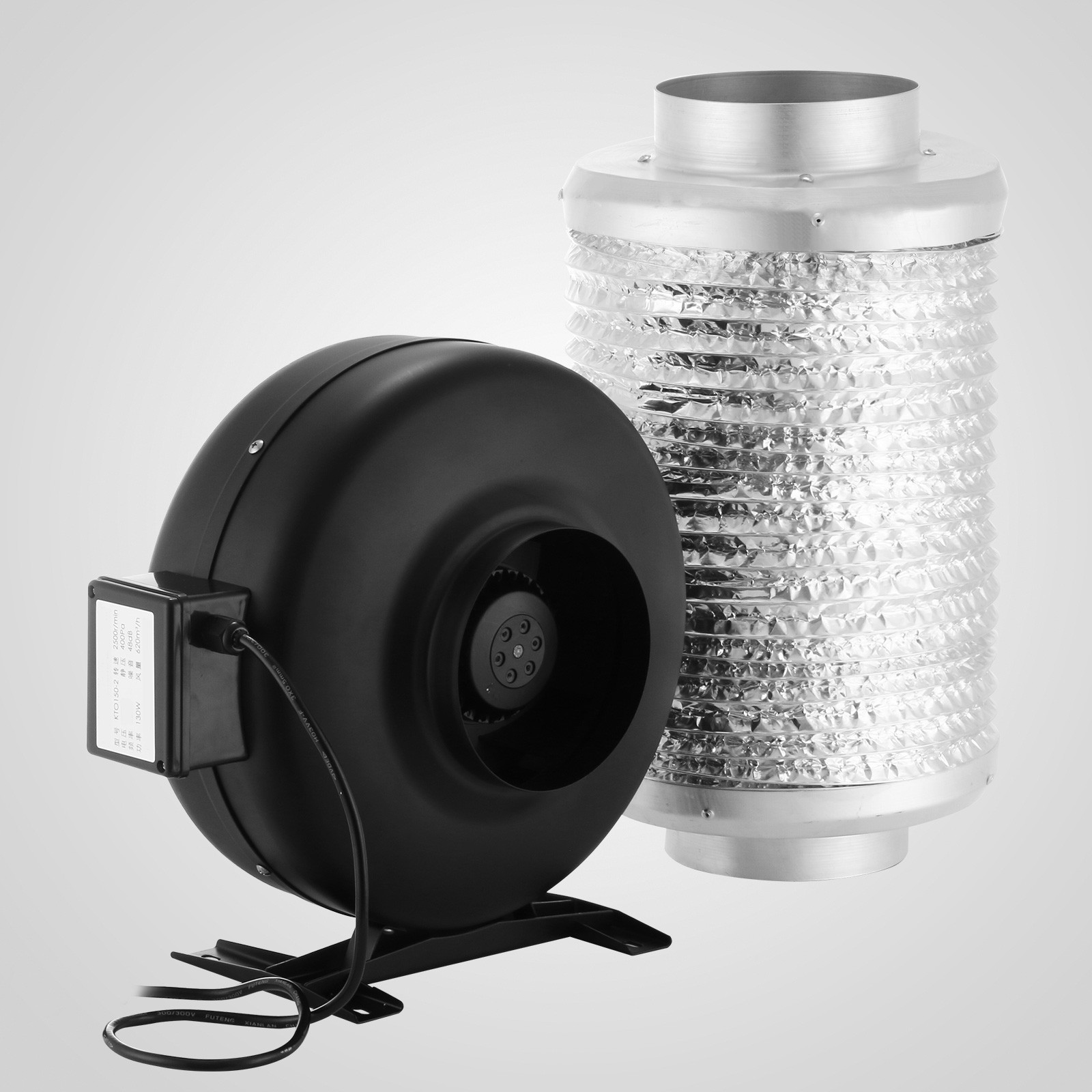Air Duct Blower Fan : Duct fan air blower carbon filter inline vent moisture