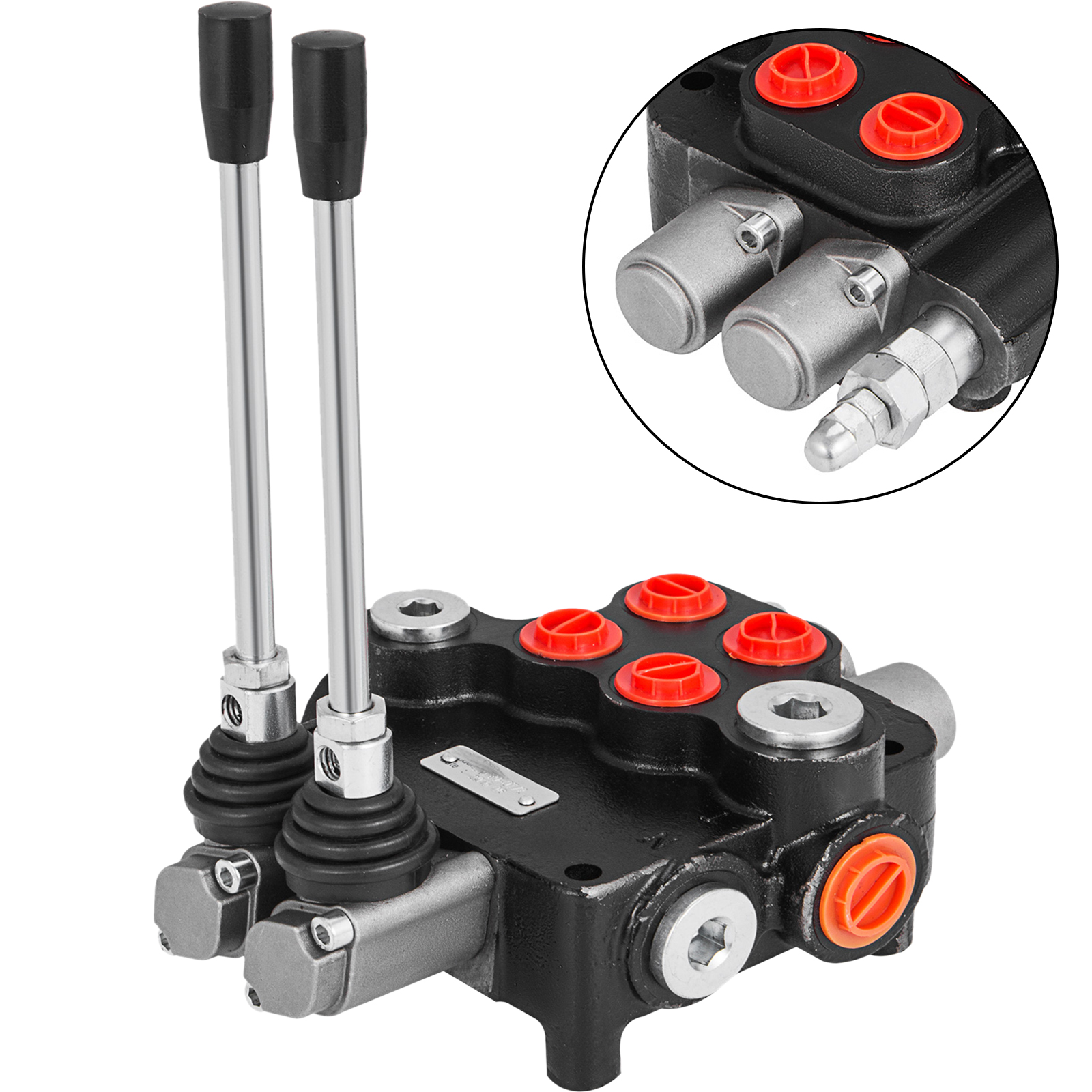 2-Spool-Hydraulic-Control-Valve-21GPM-Double-Acting-Monoblock-Log-Small-Tractors