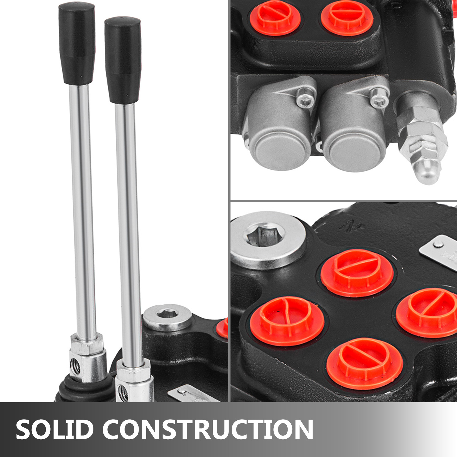 2-Spool-Hydraulic-Control-Valve-21GPM-Double-Acting-Monoblock-Log-Small-Tractors thumbnail 2