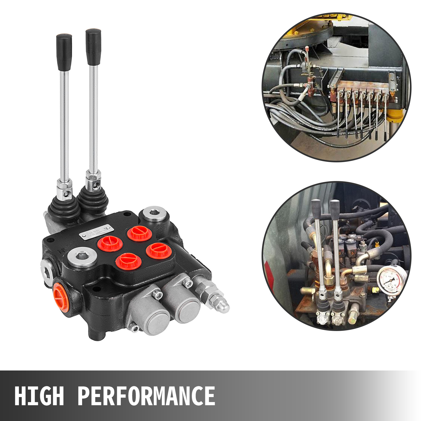 2-Spool-Hydraulic-Control-Valve-21GPM-Double-Acting-Monoblock-Log-Small-Tractors thumbnail 3